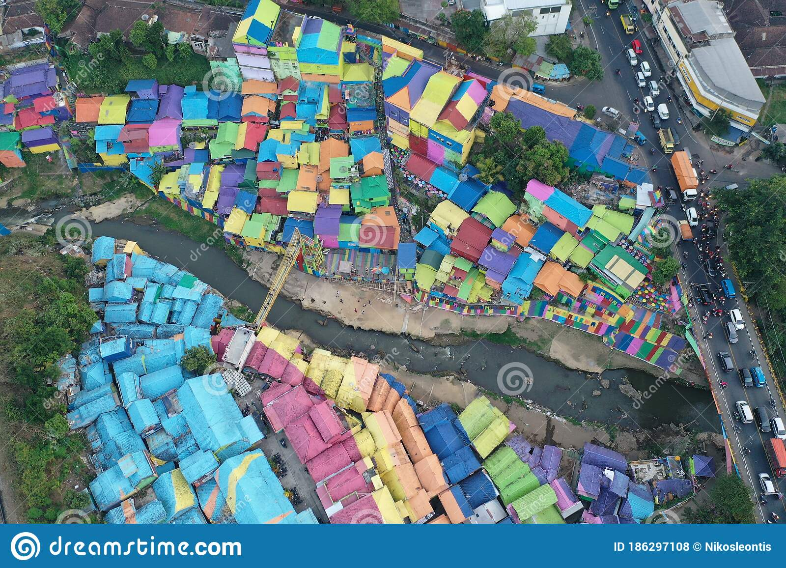 Colorful City Malang Indonesia Stock Photo Image Of East Asia 186297108