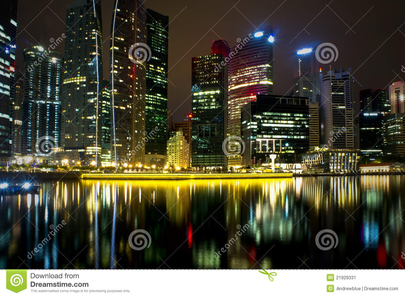 colorful city night lights stock image image of midtown