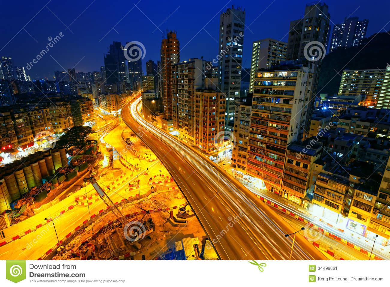 Colorful City Night With Lights Stock Image - Image: 34499061  Colorful City N...