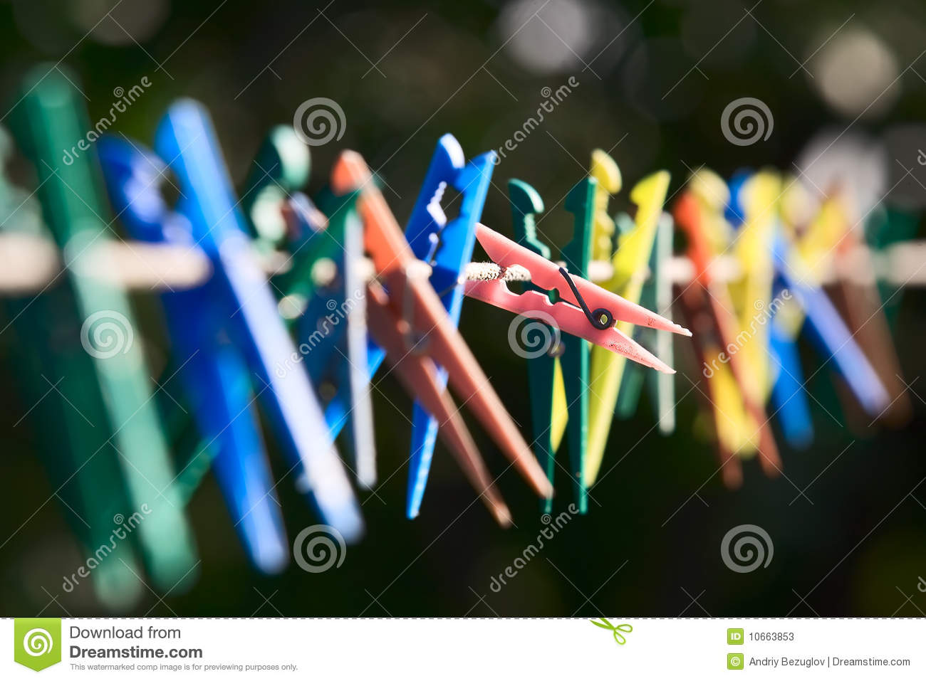 Colorful clothes-pegs