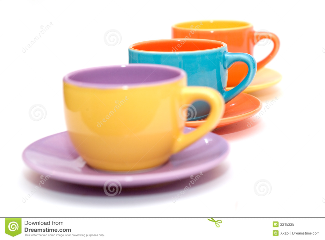 colorful coffee cups 2215225 Small Coffee Cups Colorful Coffee Cups Royalty Free Stock Photo Image