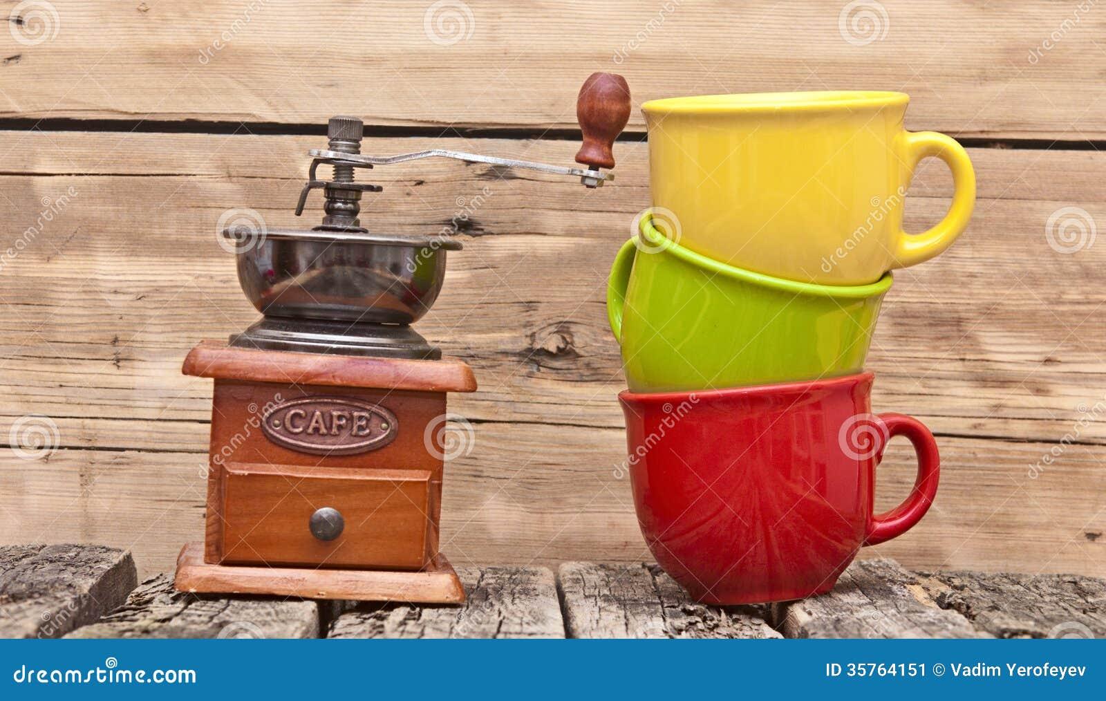 colorful coffee mugs stock image - Colorful Mugs