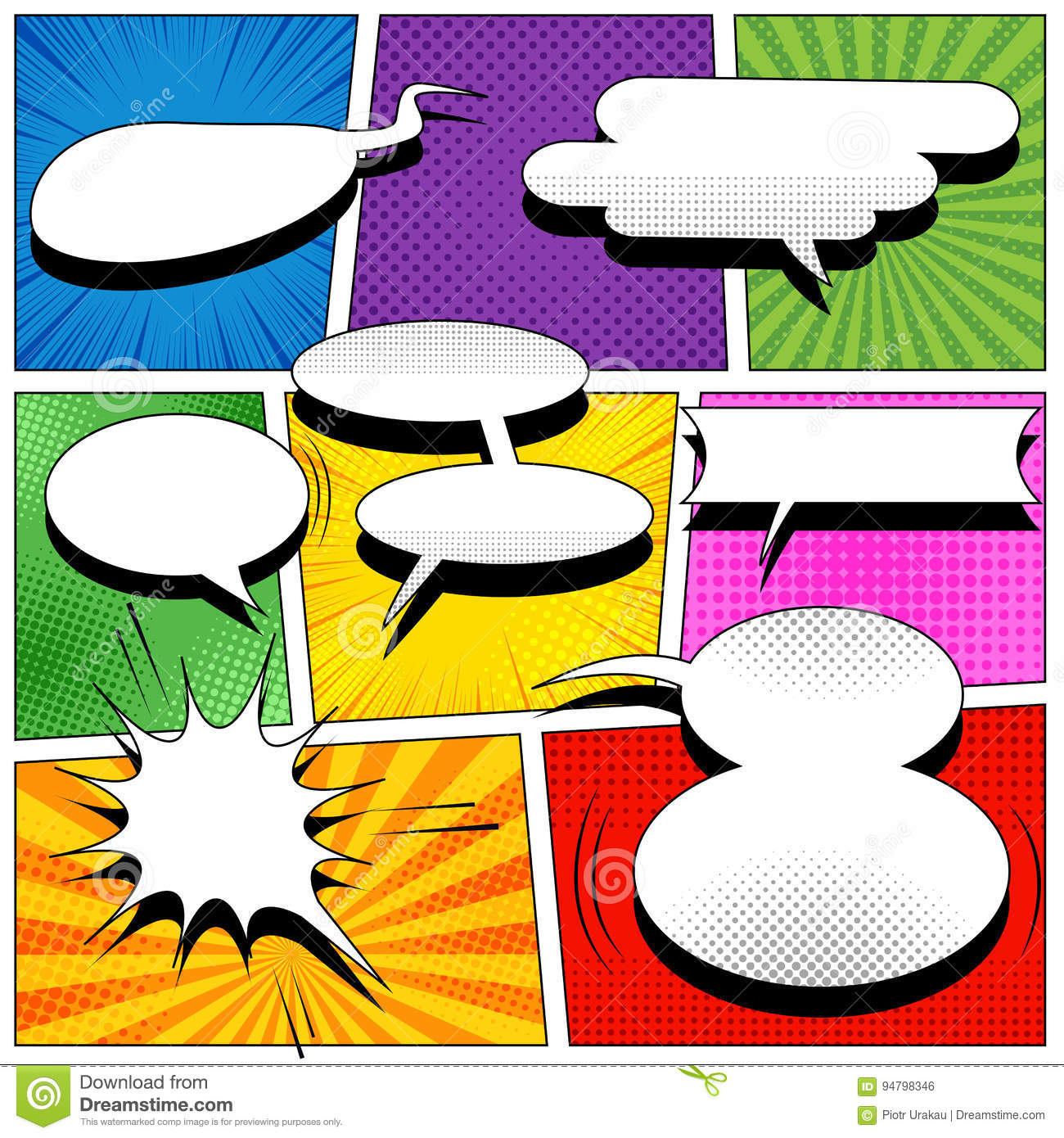 Colorful comic page template stock vector illustration of book download colorful comic page template stock vector illustration of book dotted 94798346 maxwellsz
