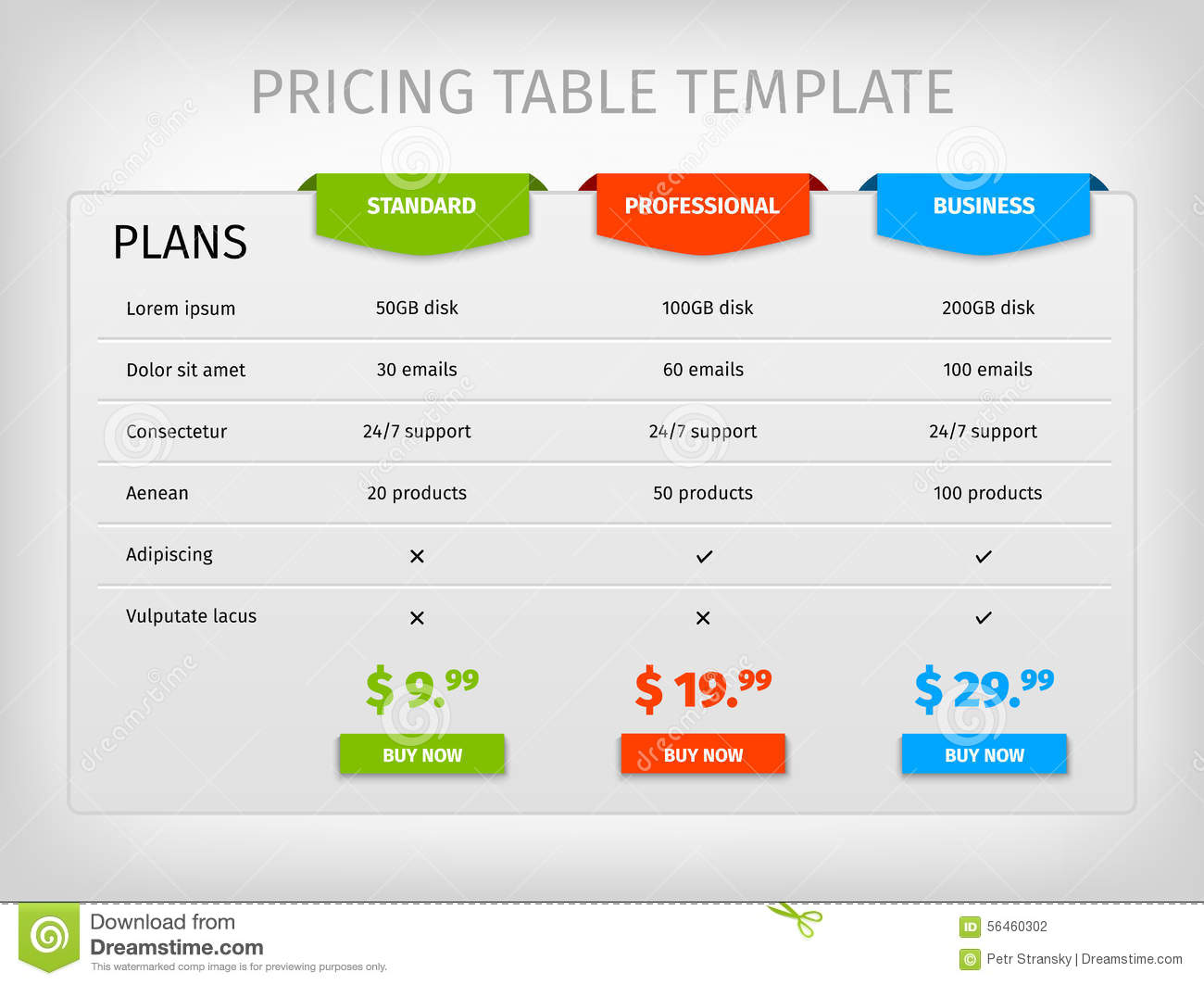 pricing business plan