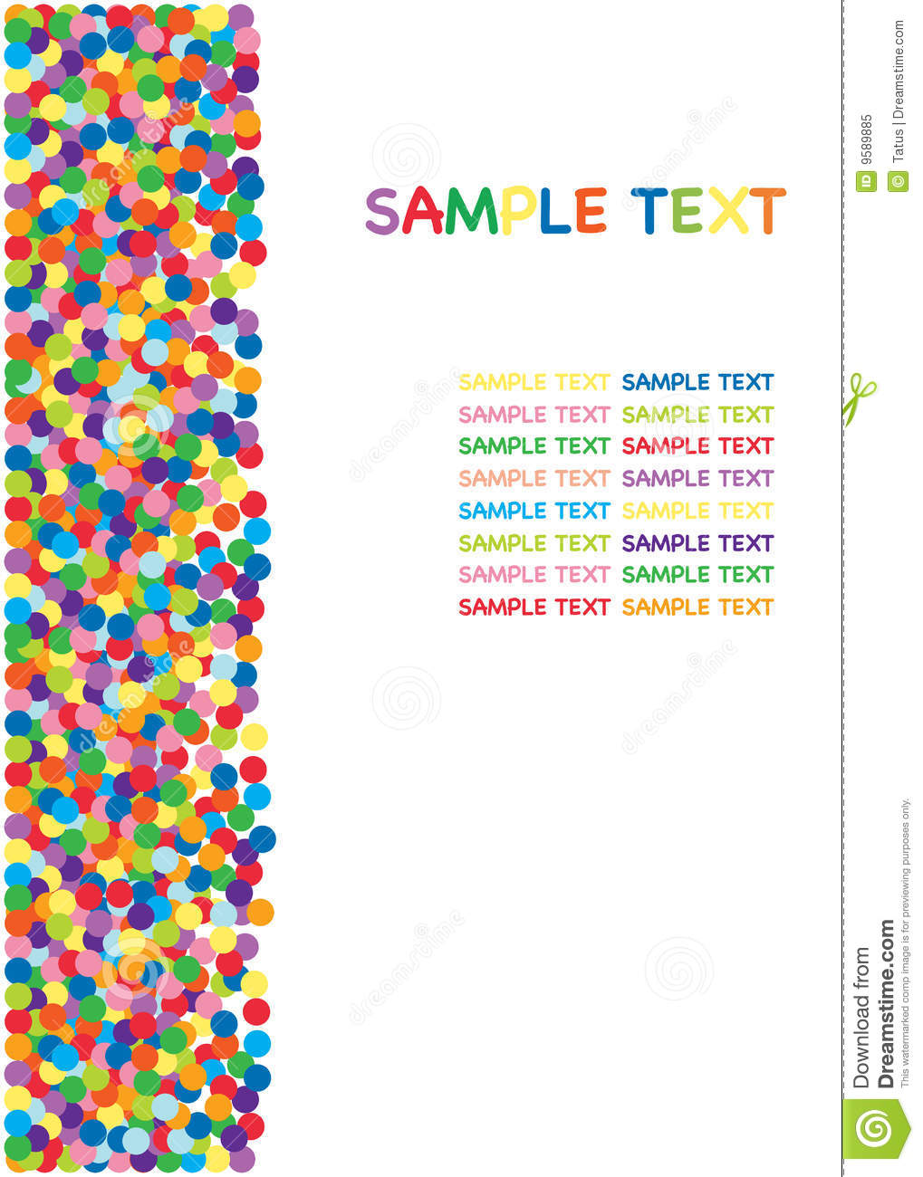 Colorful Confetti Border Royalty Free Stock Photo - Image: 9589885