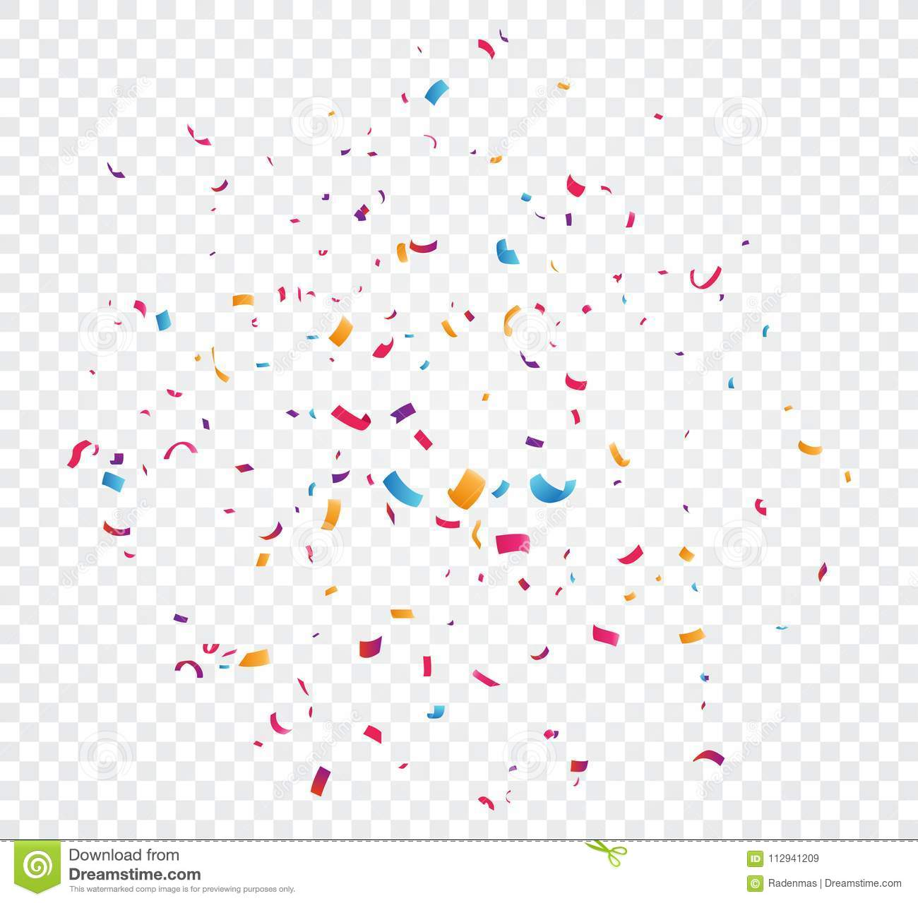 Colorful Confetti Explosion Isolated On Transparent Background Stock Vector Illustration Of Celebration Falling 112941209