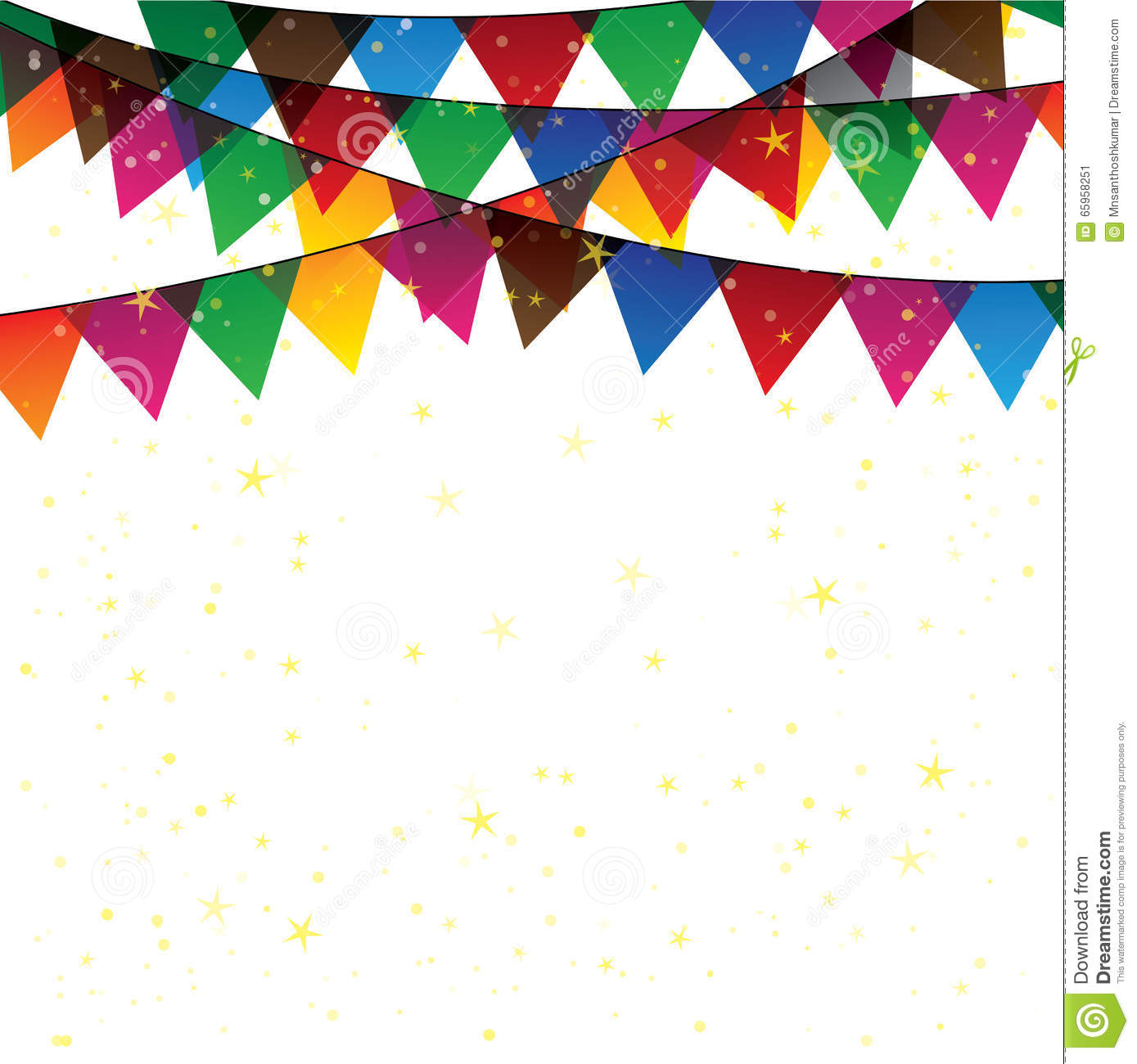 Vector bunting flags lovely celebration card with colorful paper - Bunting Celebration Colorful