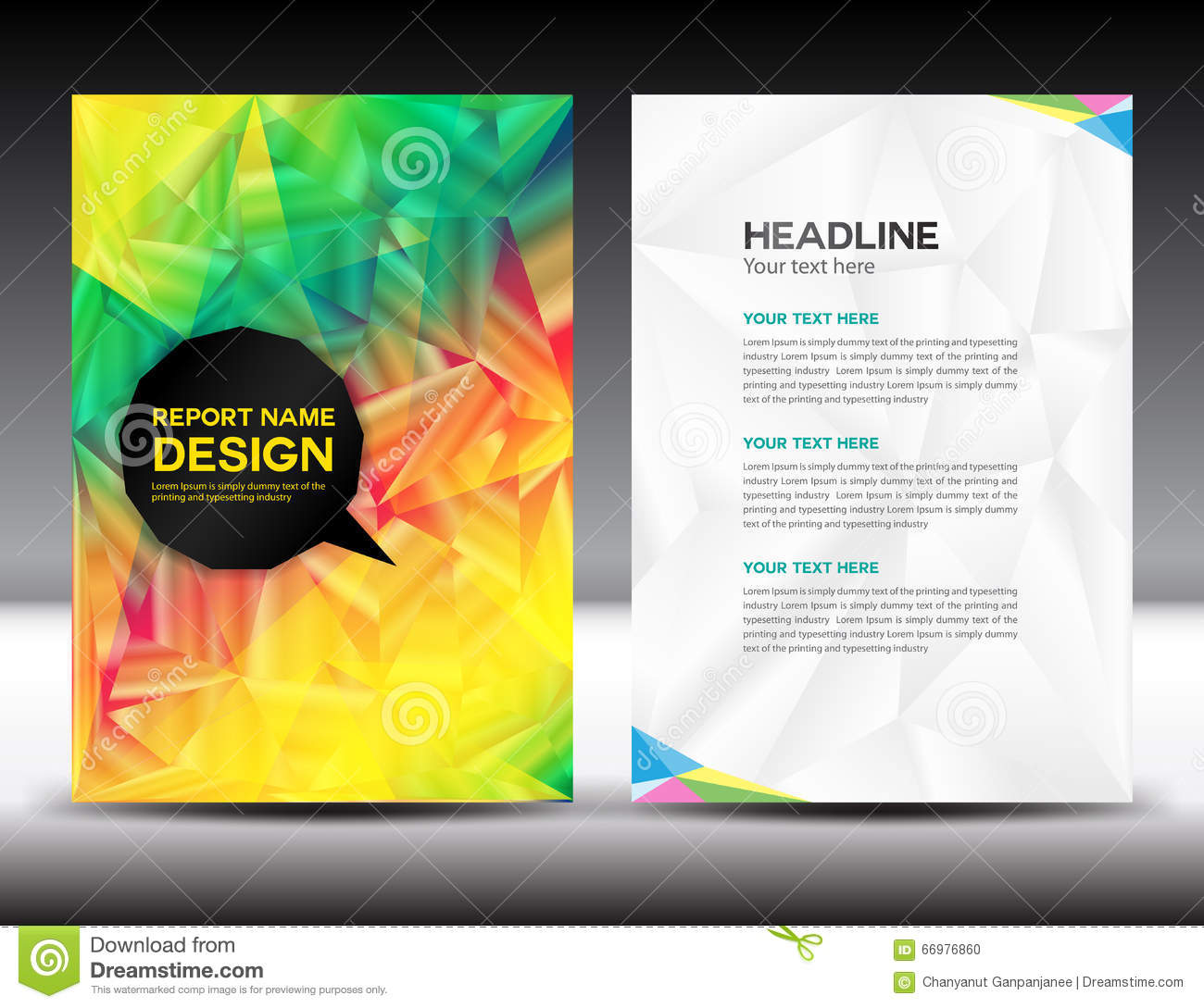 Colorful Cover Annual Report Report Template Vector Image – Annual Report Template Design