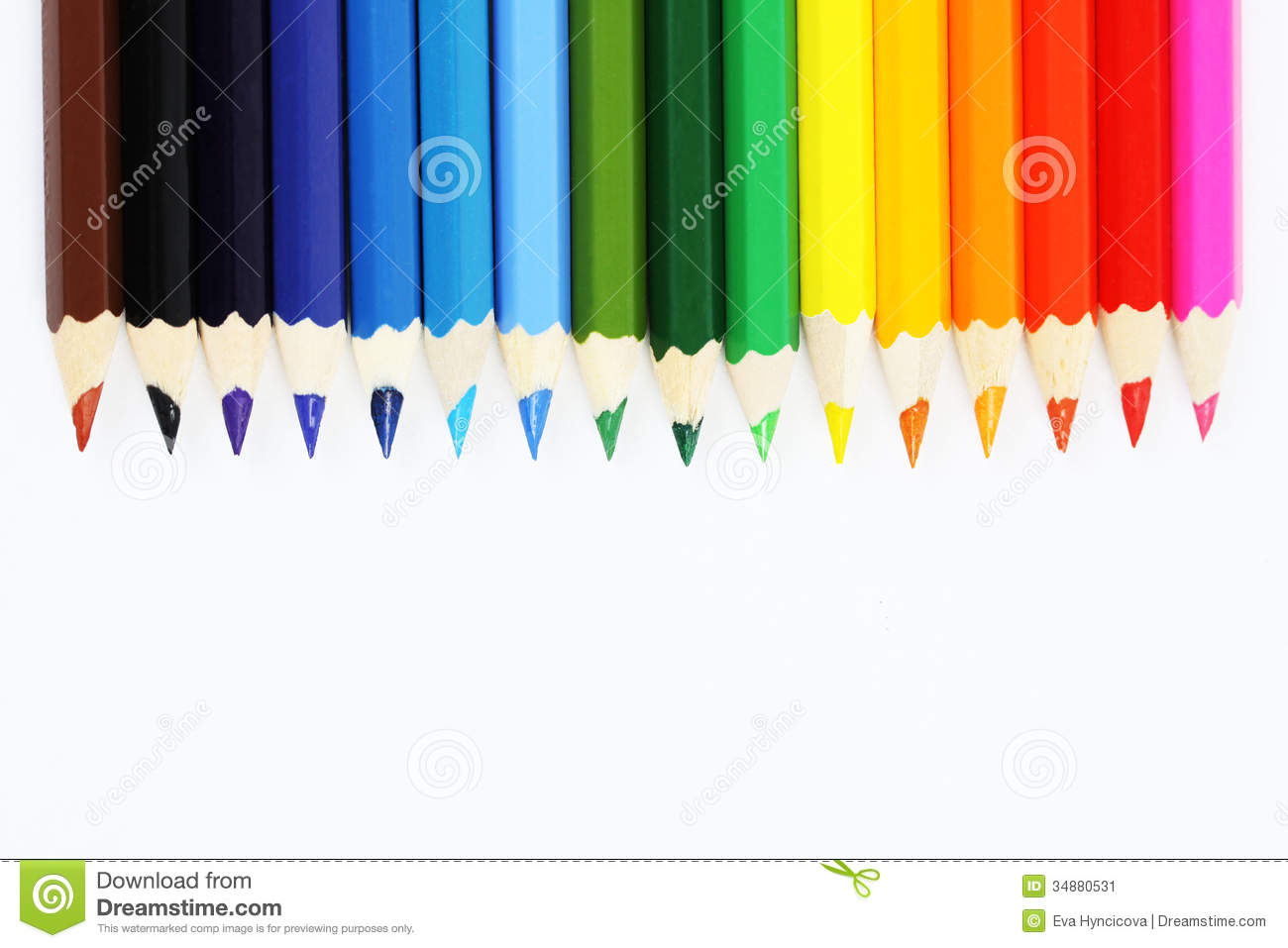 Rainbow colors in order pictures - Royalty Free Stock Photo
