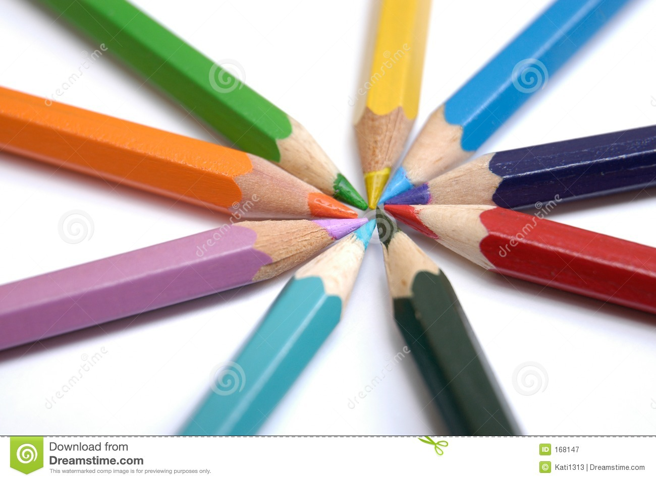 Colorful crayons VI