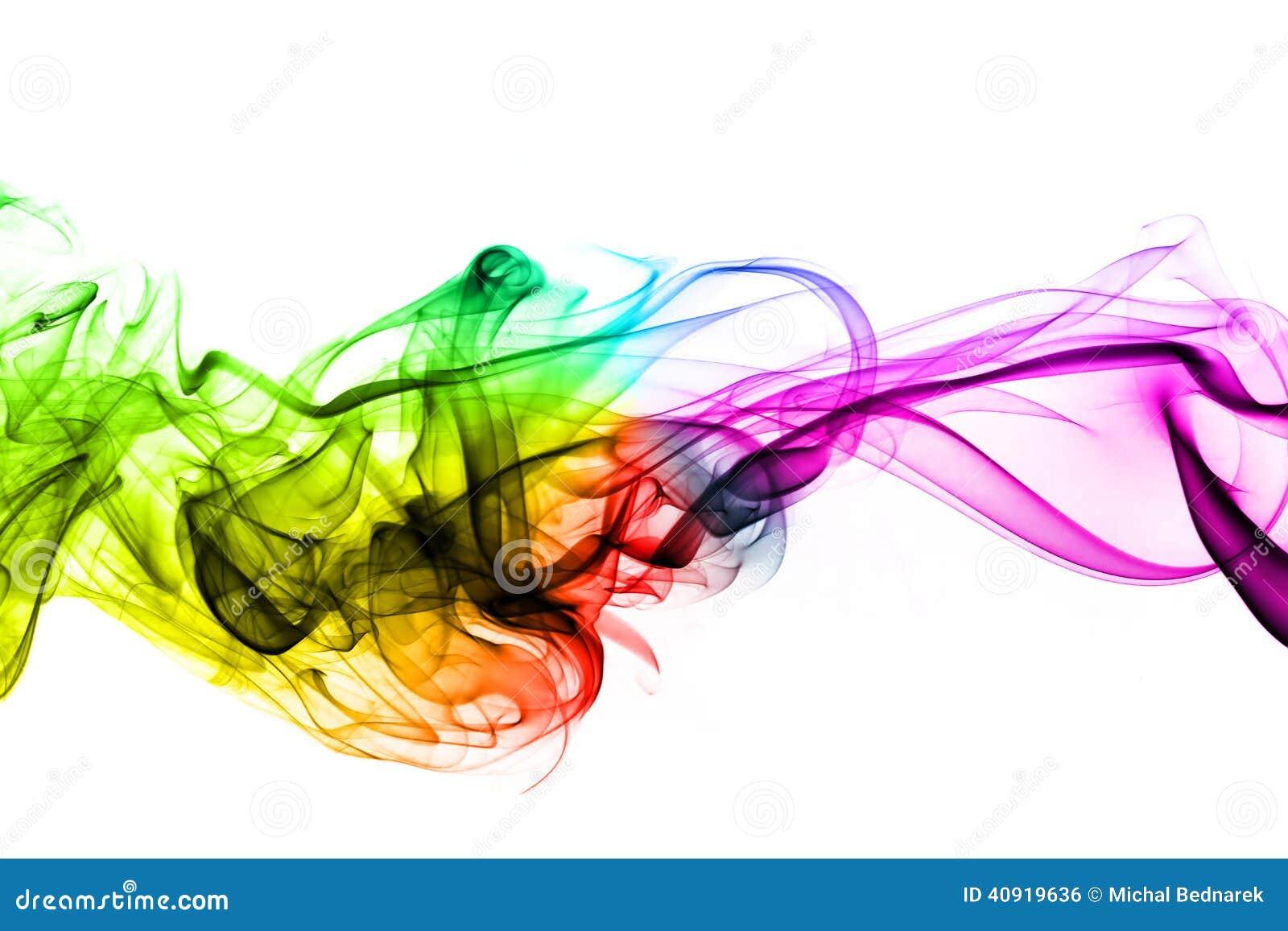 Creative Graphics Design Background: Colorful Creative Smoke Waves Stock Photo