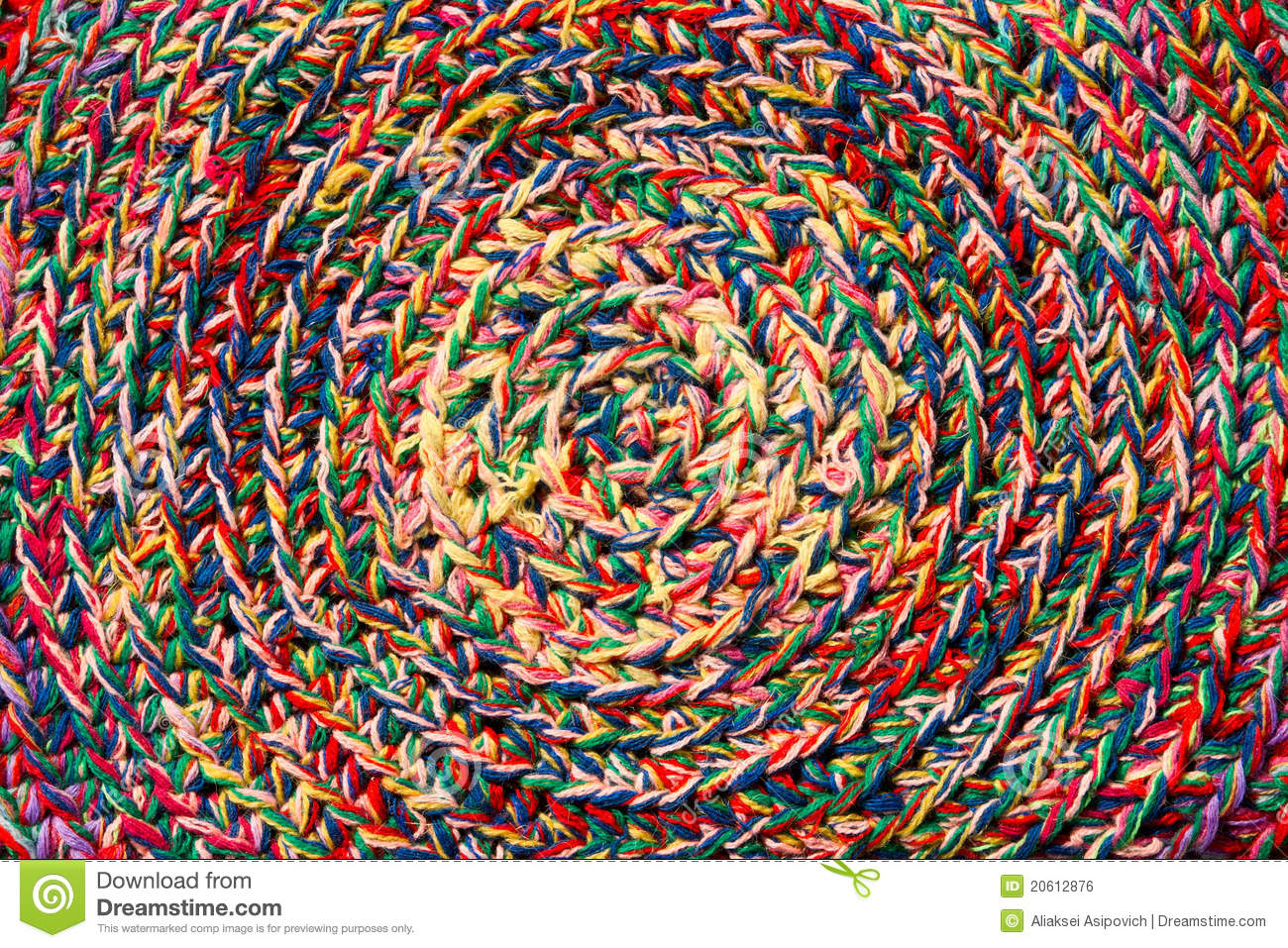 Colorful Crochet Texture Pattern Stock Photo Image Of
