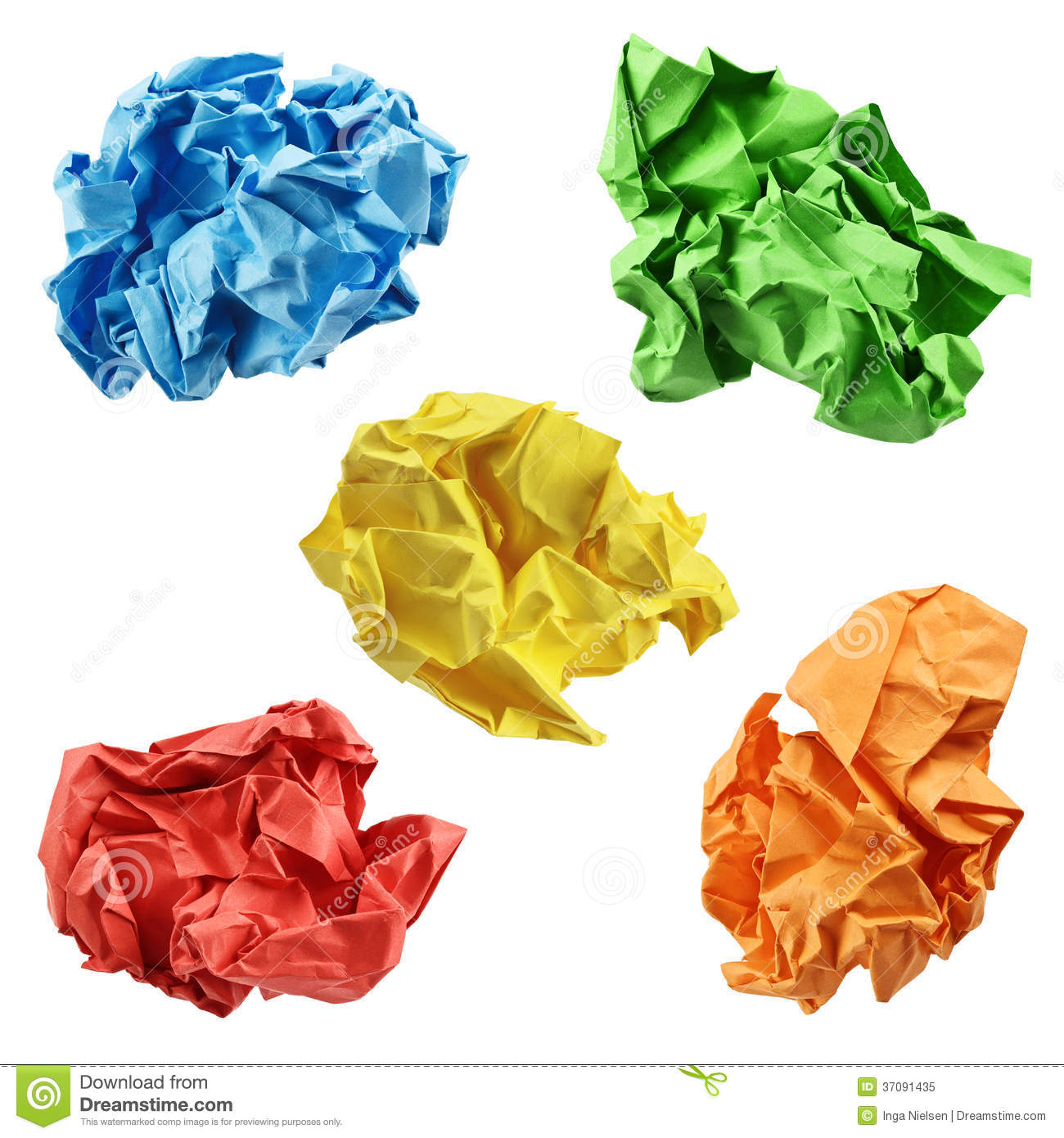 Colorful Crumpled Paper Balls Royalty Free Stock Photo