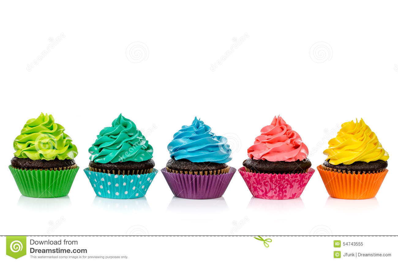 Chocolate Cup Cakes Clip Art