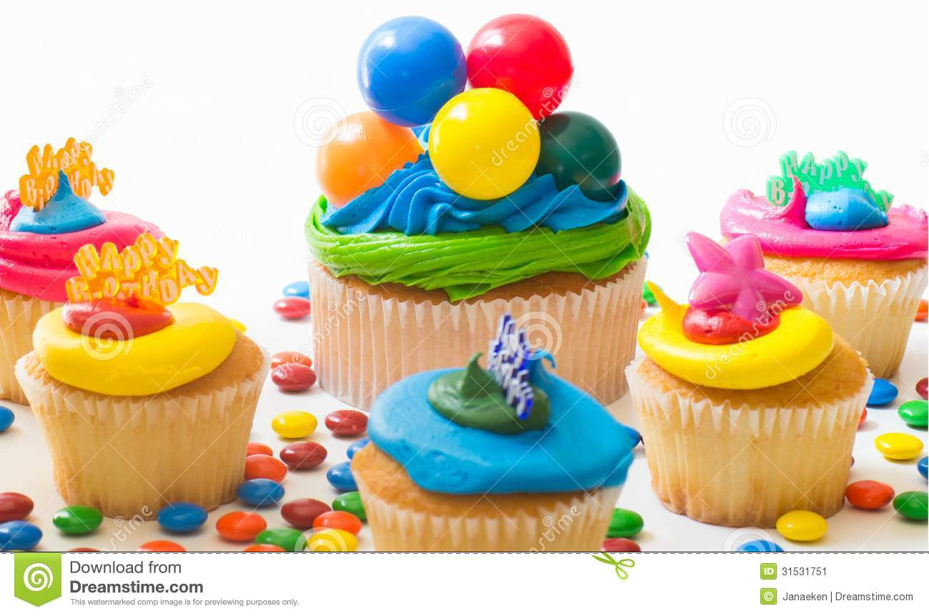 Colorful Cupcakes Stock Image Image Of Commemoration
