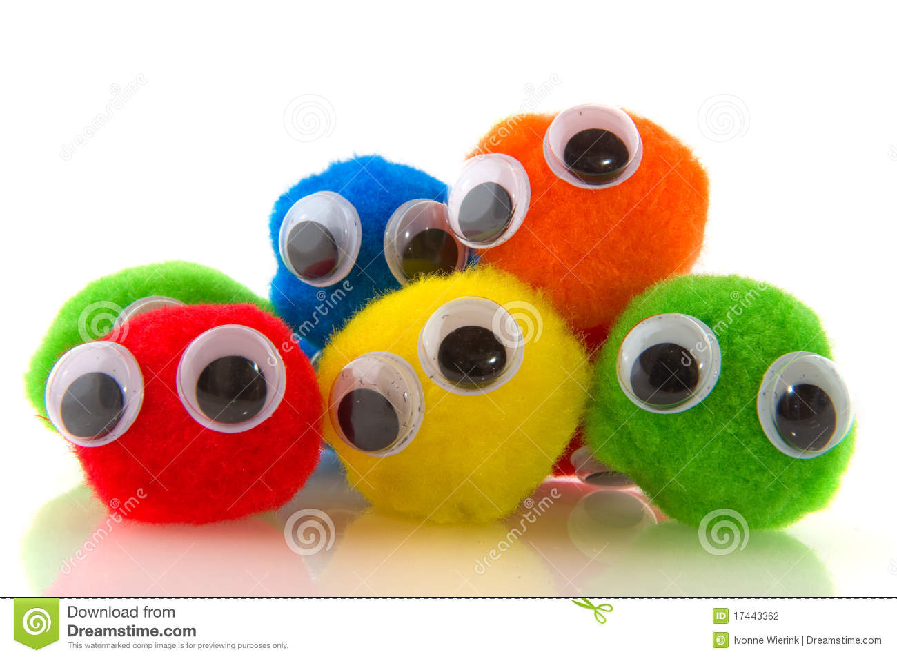 Colorful curious people