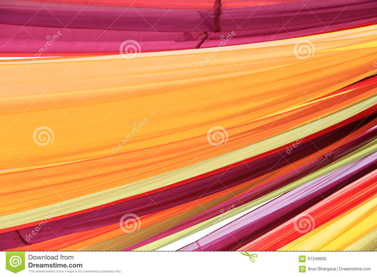 Colorful Curtain Drapes Stock Photo Image Of Ceiling 61349660