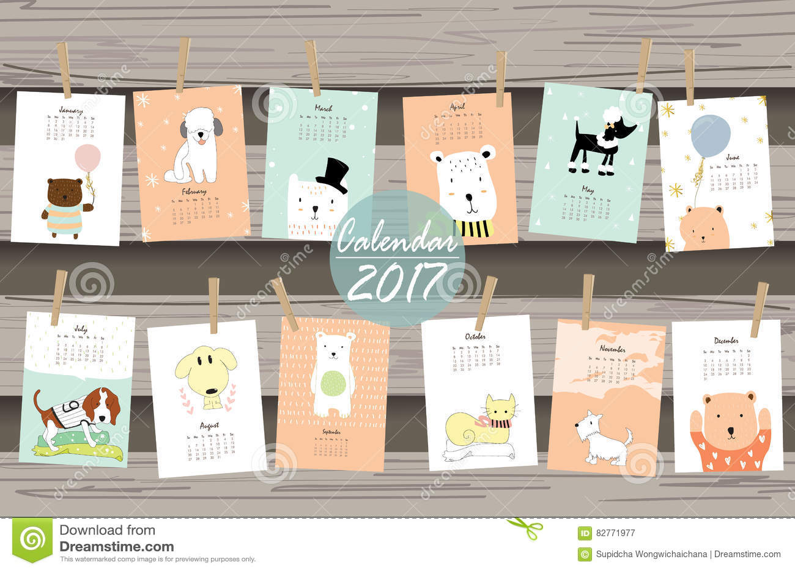 Blank Calendar Cartoon : Monthly calendar for cartoon vector cartoondealer