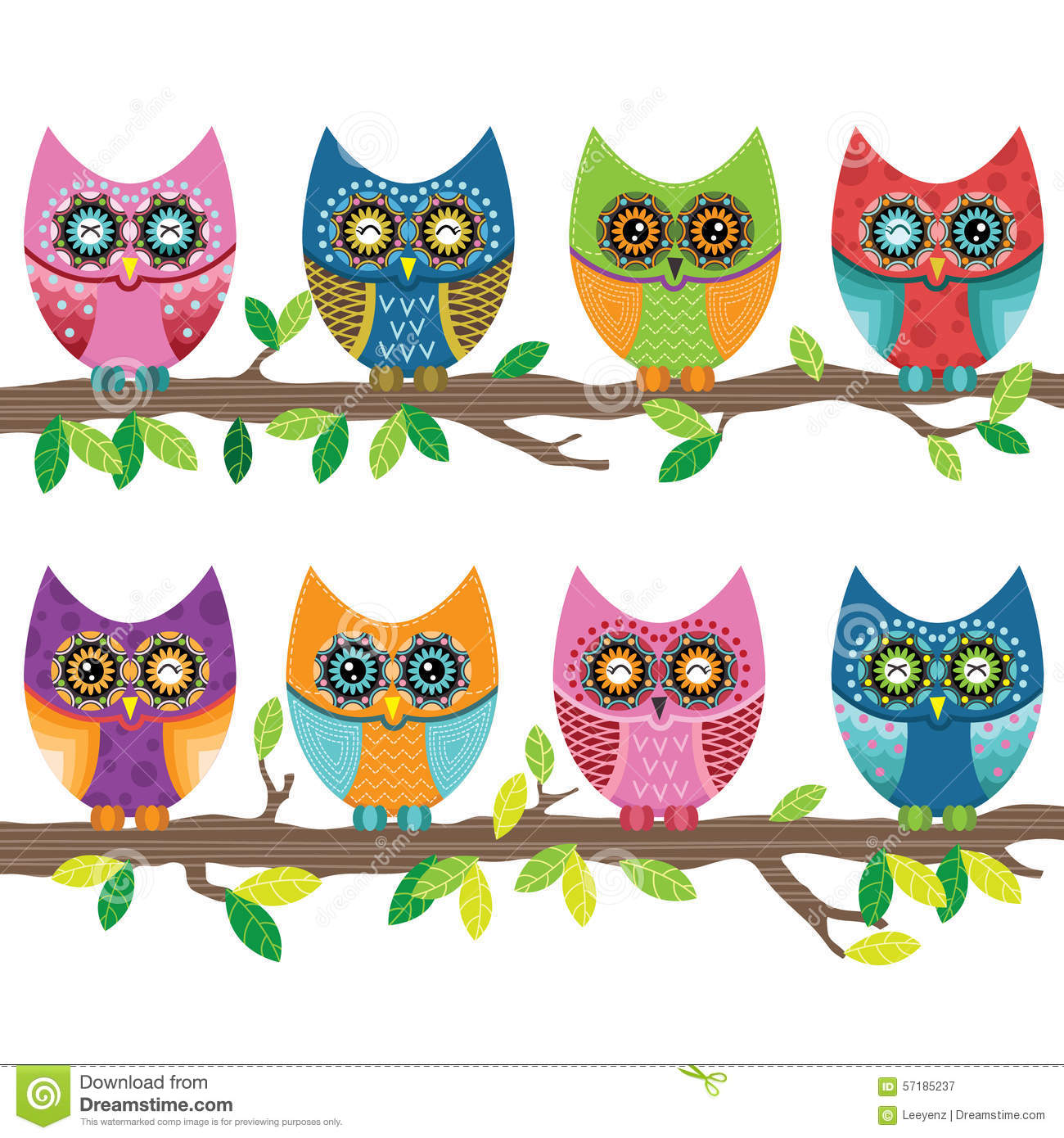 colorful cute owl vector - photo #16