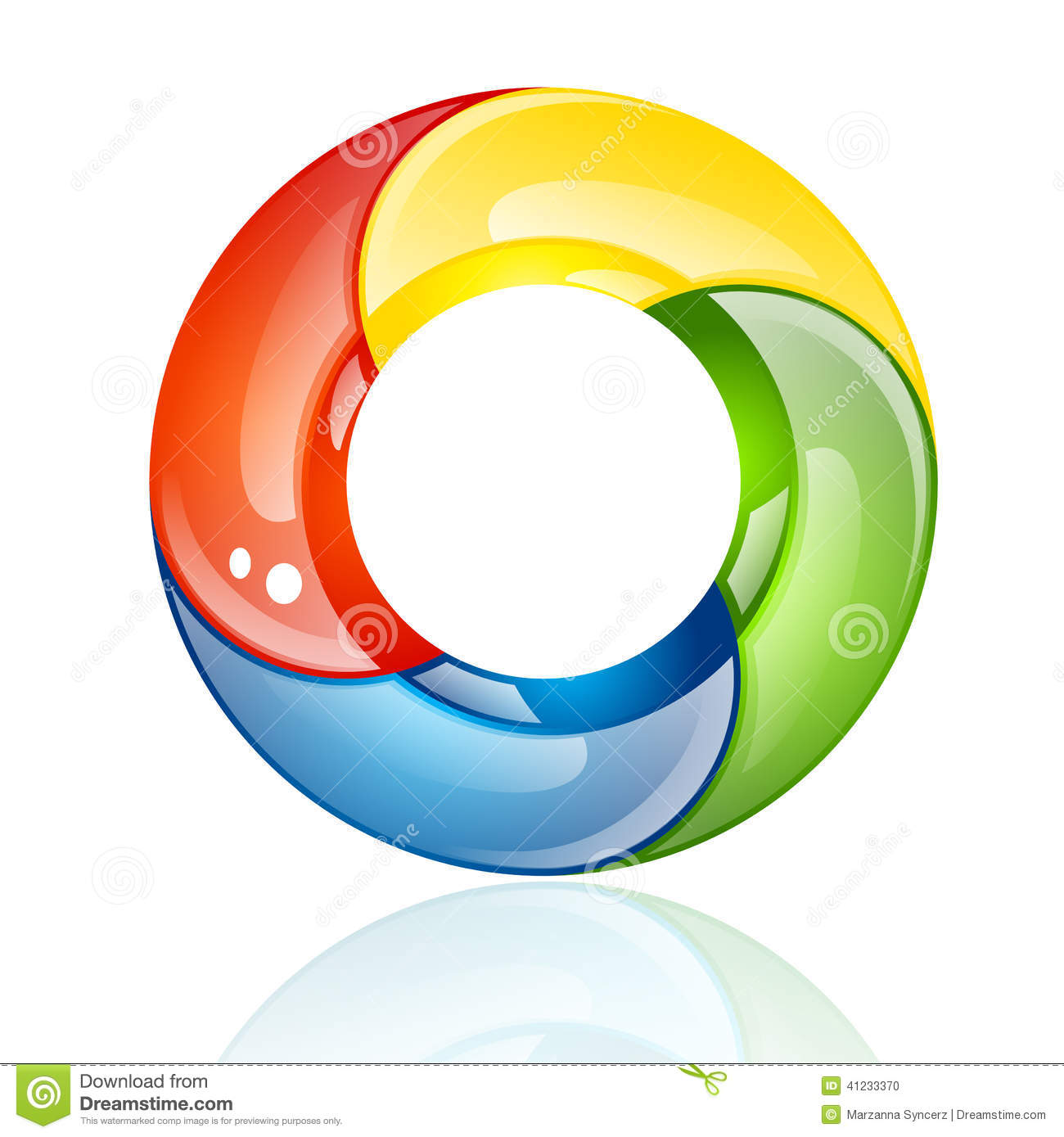 Colorful 3D Circle Or Ring Stock Vector
