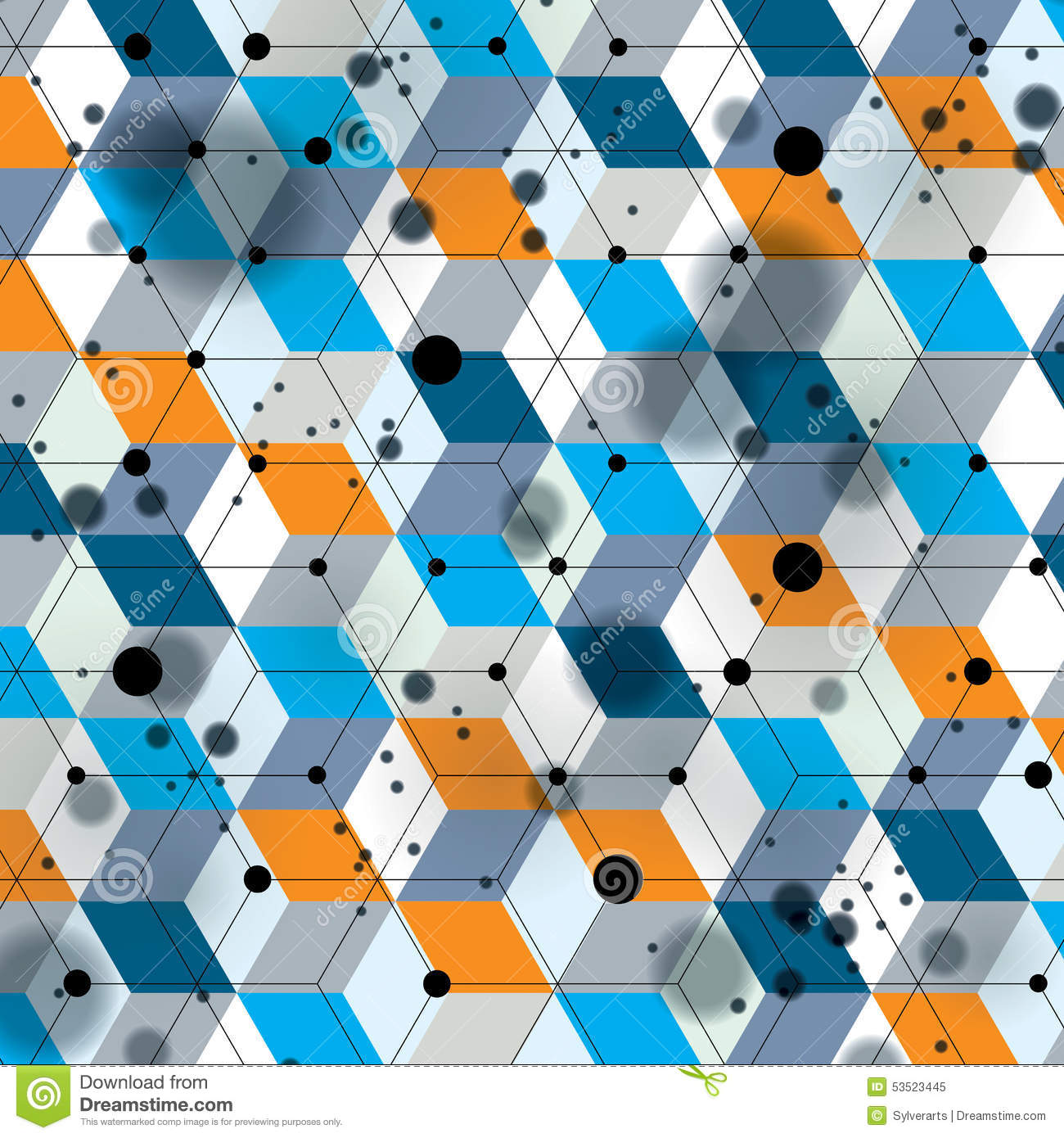 Colorful 3d spatial lattice covering, complicated op art background with geometric shapes, eps10. Science and technology theme.
