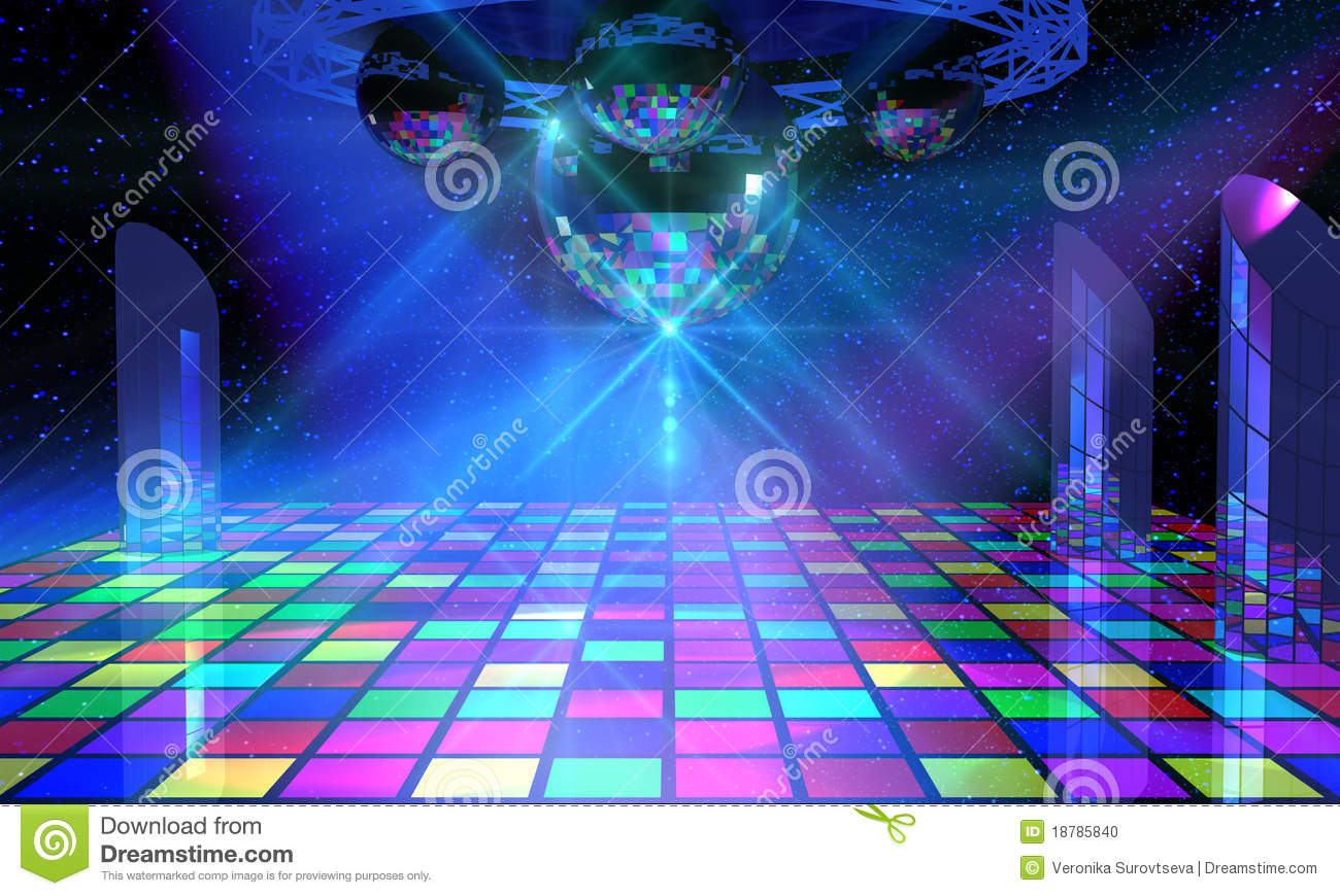 How To Read Floor Plans Symbols Colorful Dance Floor With Several Disco Balls Stock Photo