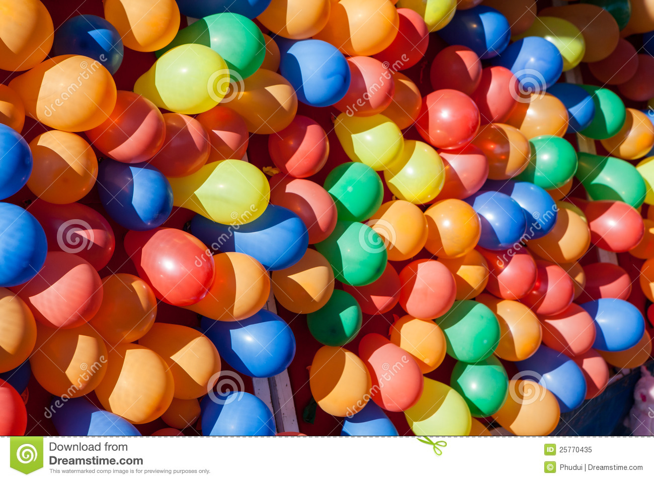 Colorful dart ballons game at the carnival royalty free for Free balloon games