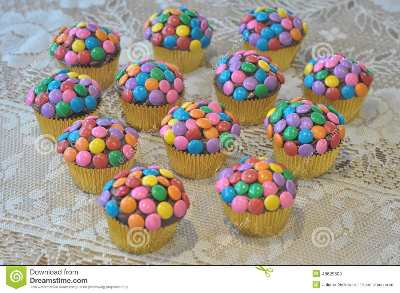 Colorful Decorated Cupcakes Stock Photo Image Of Colorful Cakes
