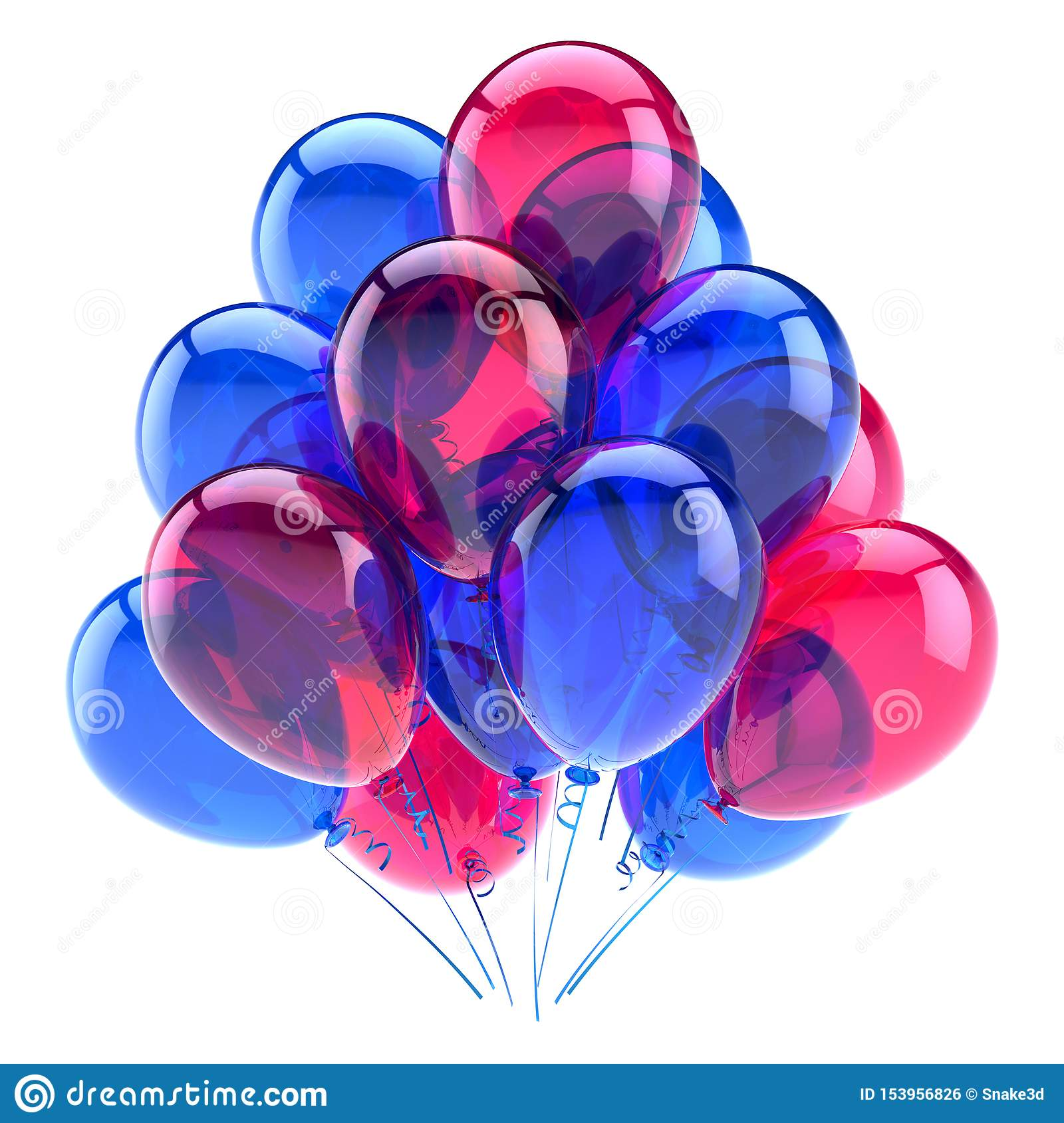 Colorful decoration for birthday party celebration. Helium balloons