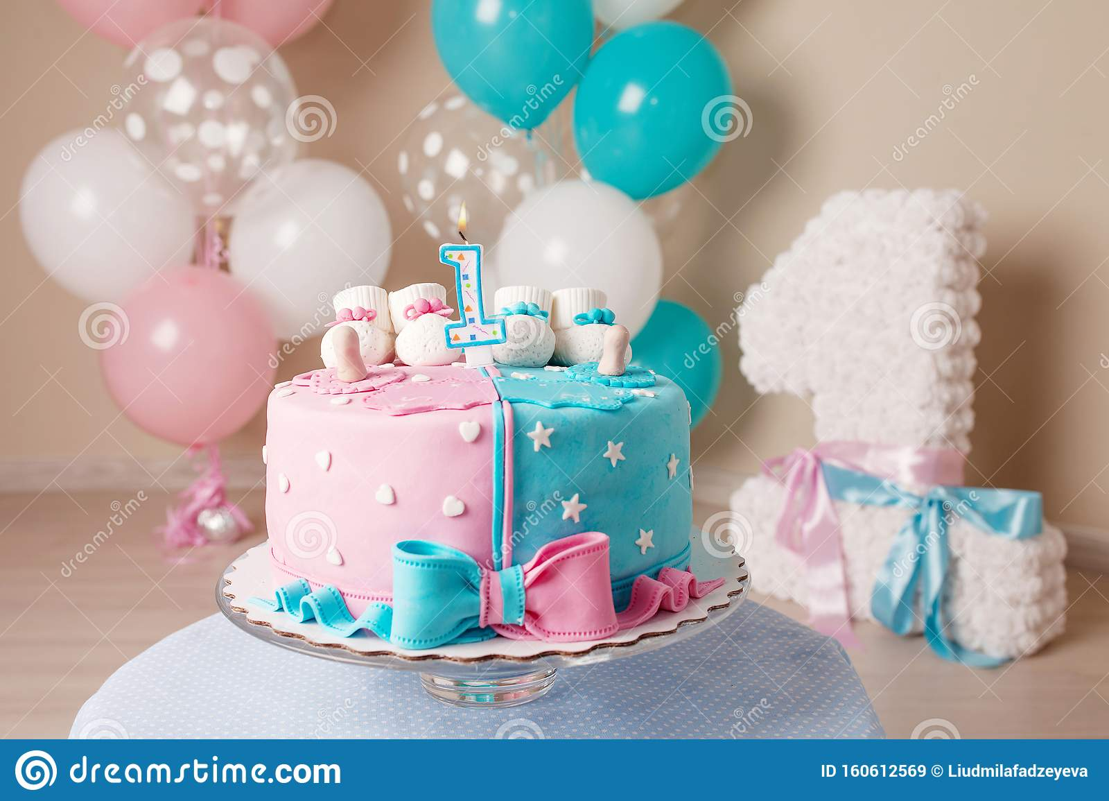 Amazing Colorful Decoration Of A First Year Birthday Cake For Twins Happy Funny Birthday Cards Online Unhofree Goldxyz