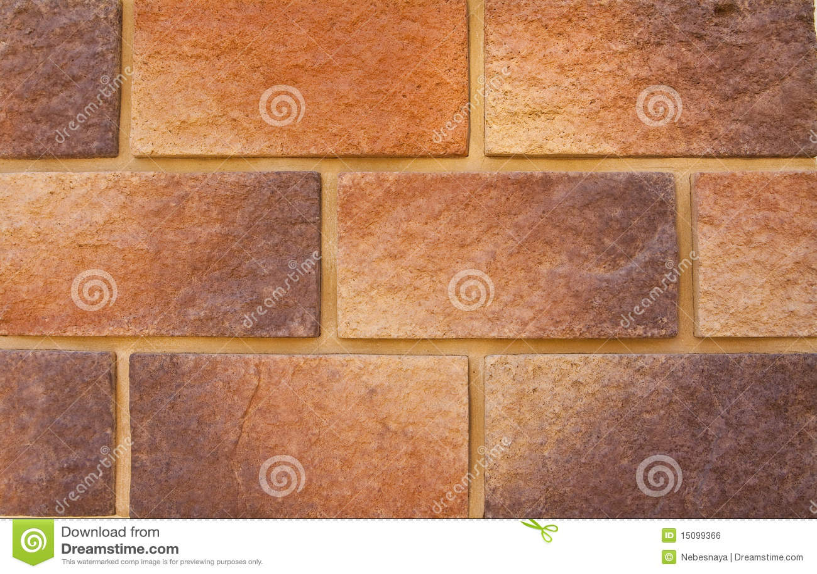 Decorative Masonry Walls : Colorful decorative brick wall background royalty free