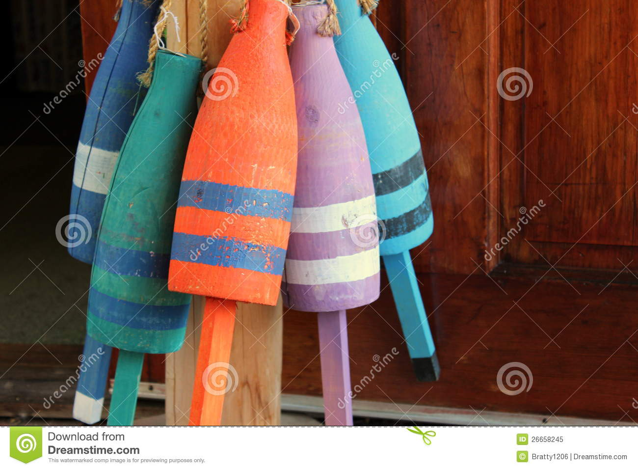 Colorful Decorative Buoys Stock Image Image Of Colorful