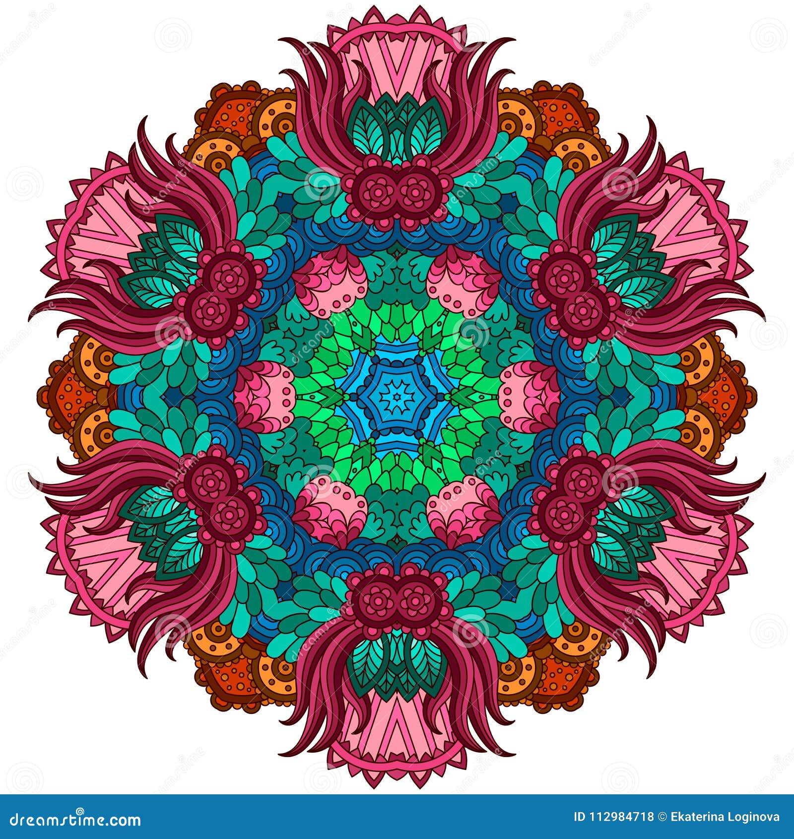 Colorful decorative mandala.
