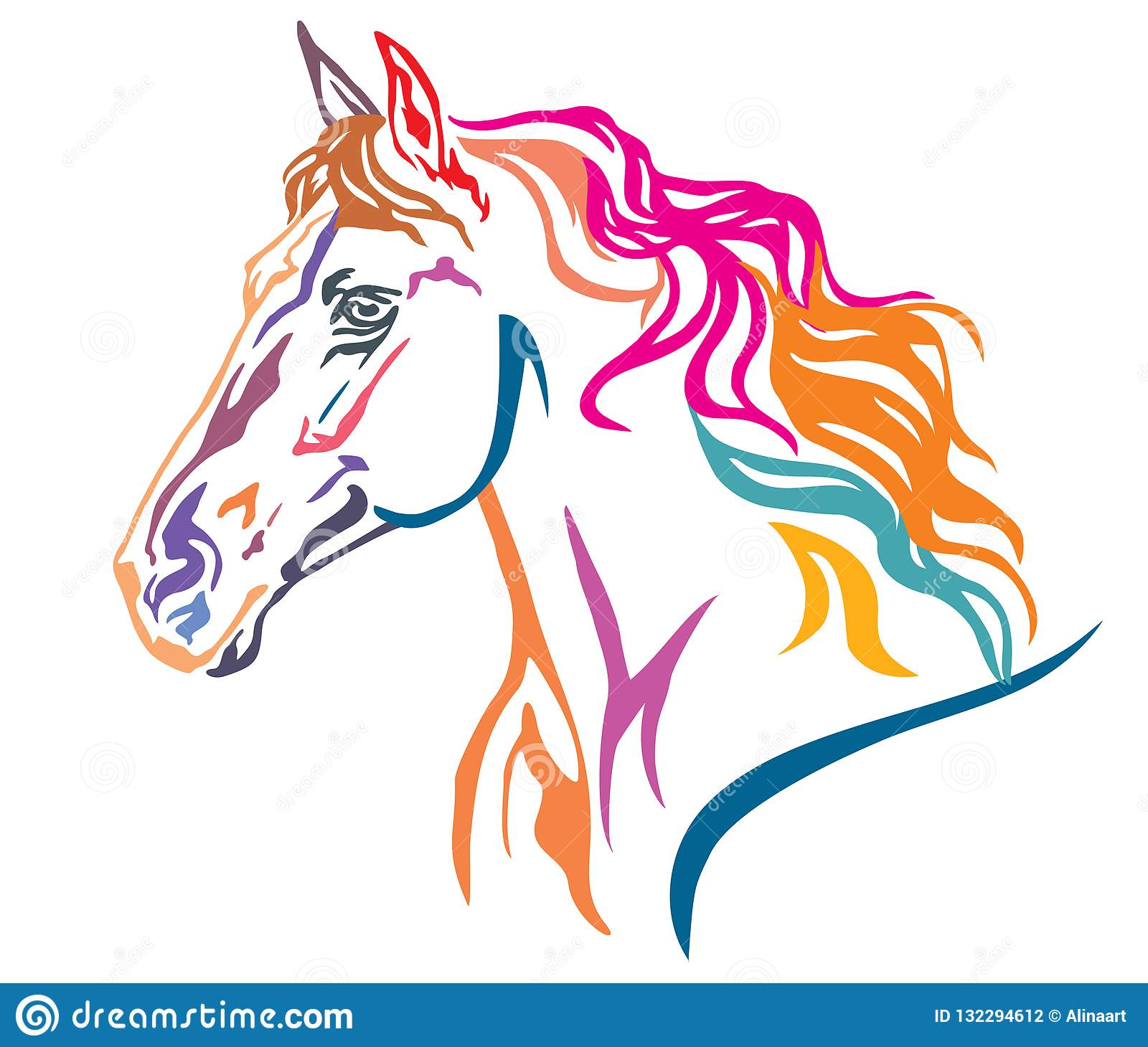 Colorful Horse Stock Illustrations 22 535 Colorful Horse Stock Illustrations Vectors Clipart Dreamstime