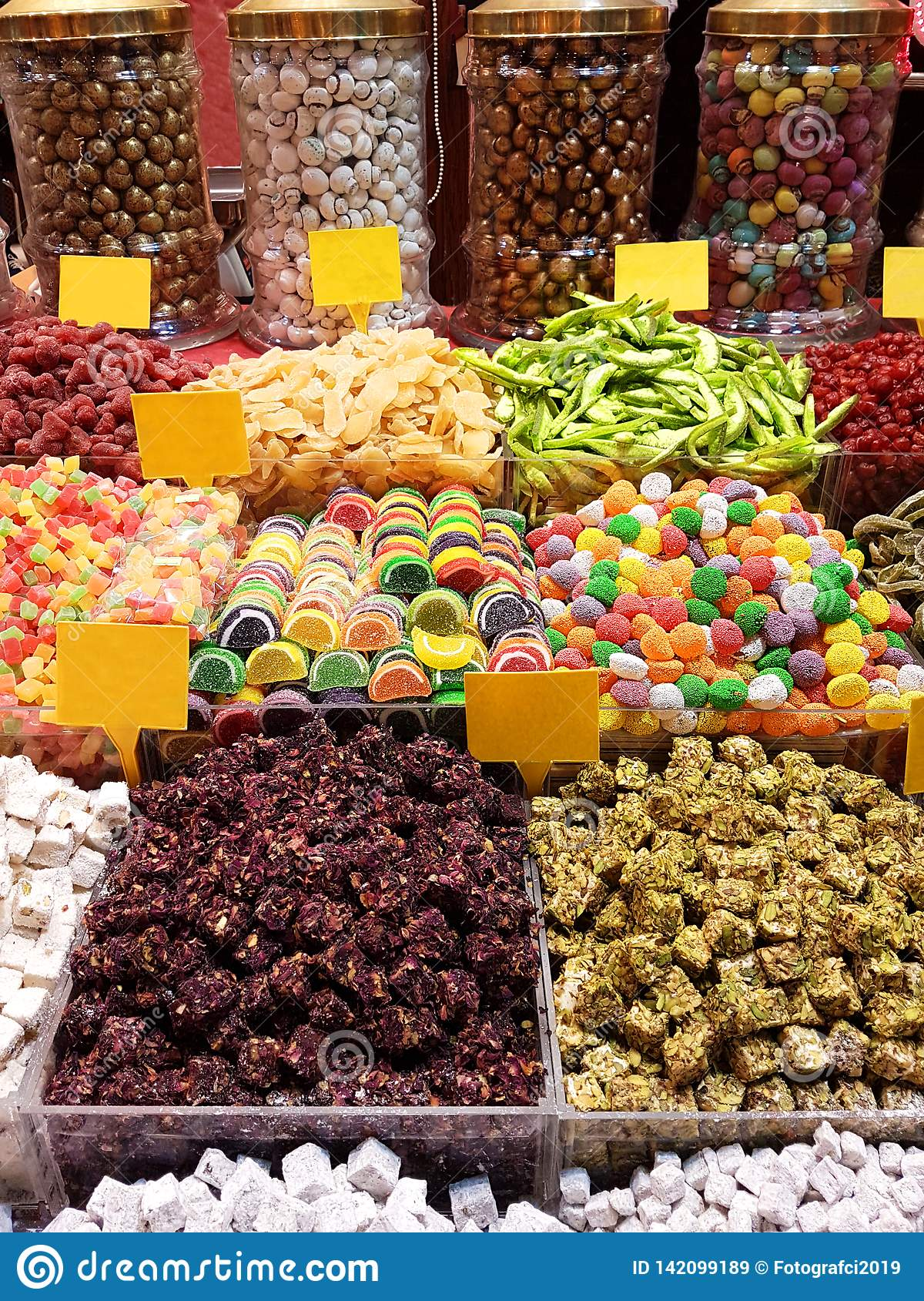 Colorful Delicious Candies in Grand Bazaar Istanbul