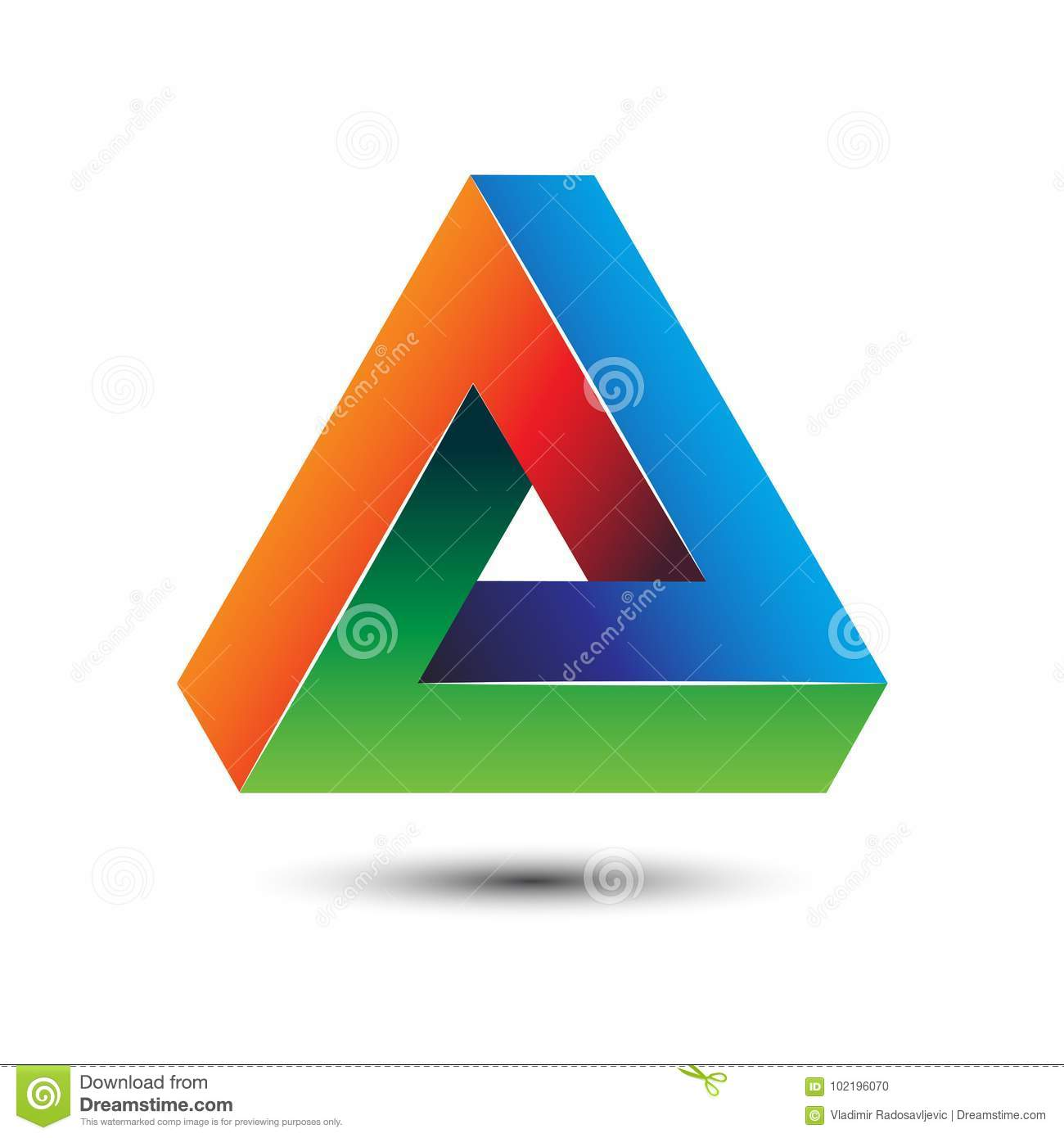 Colorful delta letter 3d impossible sign for logo template vector colorful delta letter 3d impossible sign for logo template vector illustration biocorpaavc Choice Image