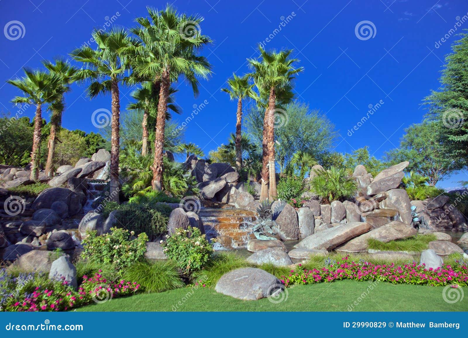 Desert Garden Palm Springs stock image. Image of oasis - 29990829