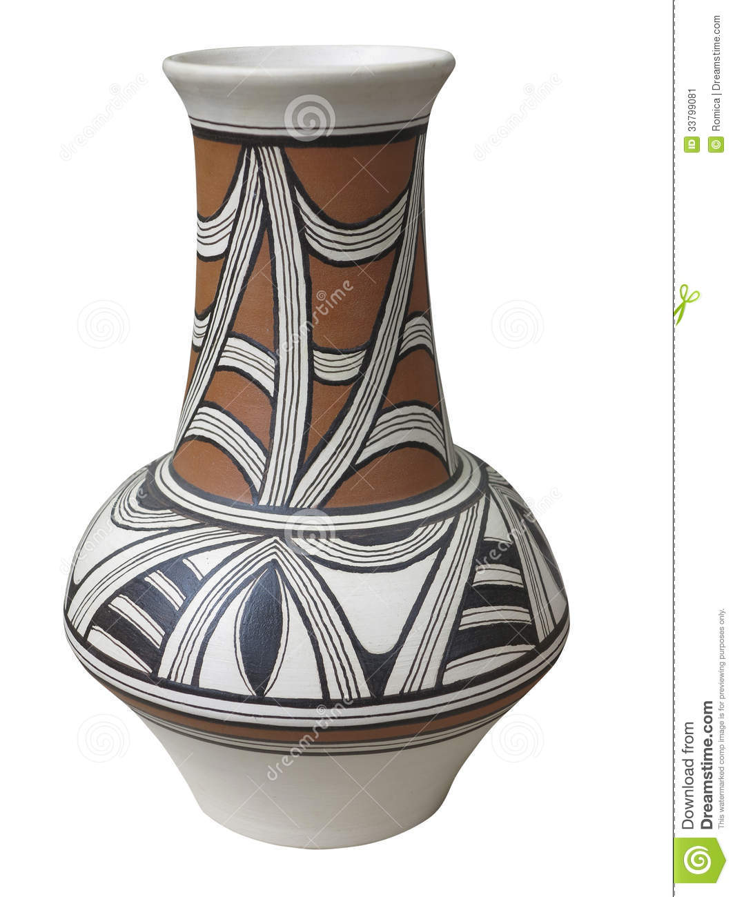 Colorful designed clay vase isolated stock image image 33799081 colorful designed clay vase isolated reviewsmspy