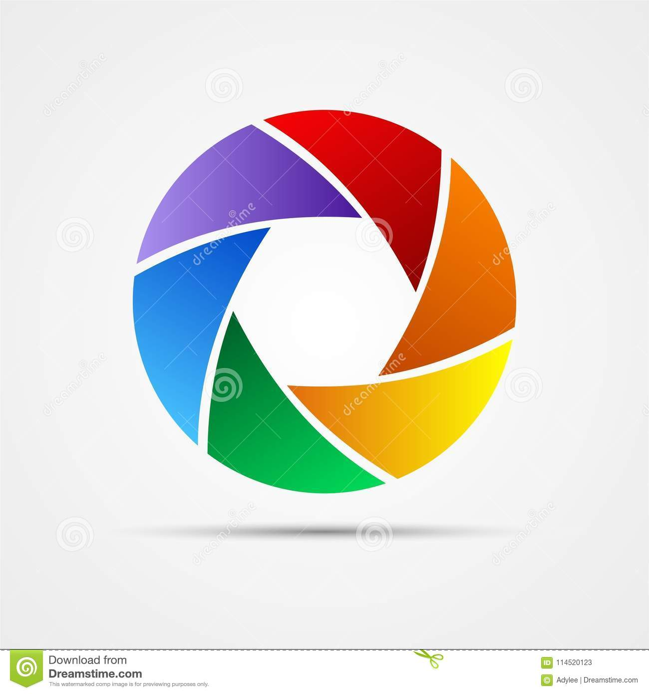 Colorful Diafragma Aperture In Vector Stock Image Illustration Of