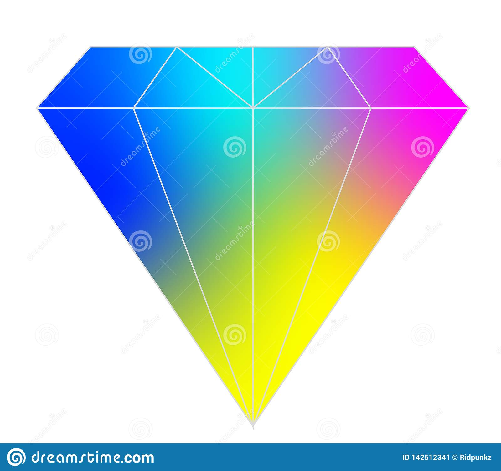 Colorful diamond vector for web and design