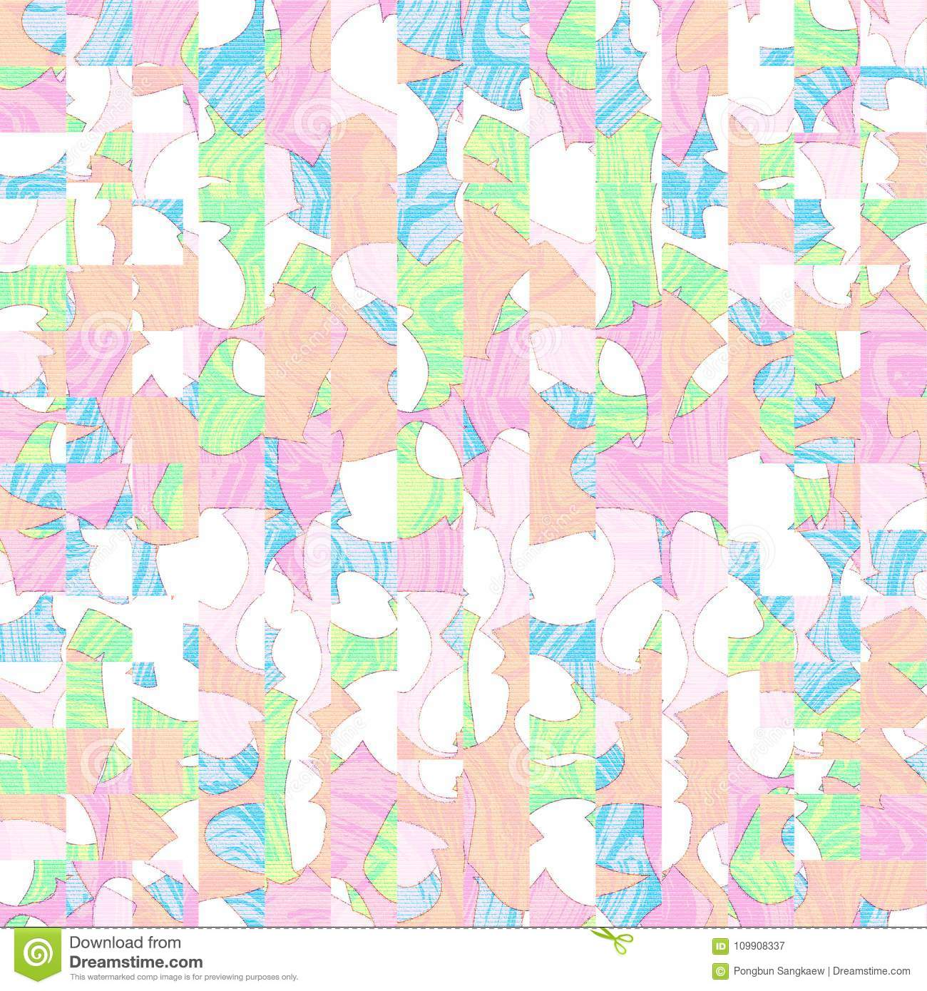 Colorful Digital Art Pastel Color Abstract Cool Backgroud