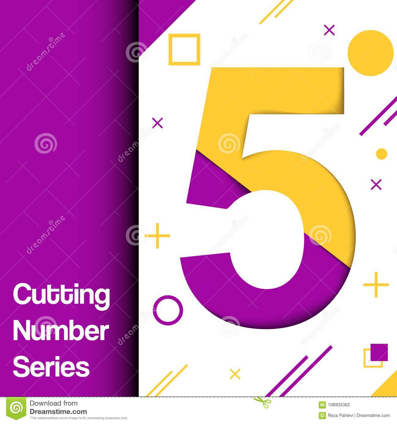 Colorful And Dinamic Numbers For Any Use In Media Stock Illustration