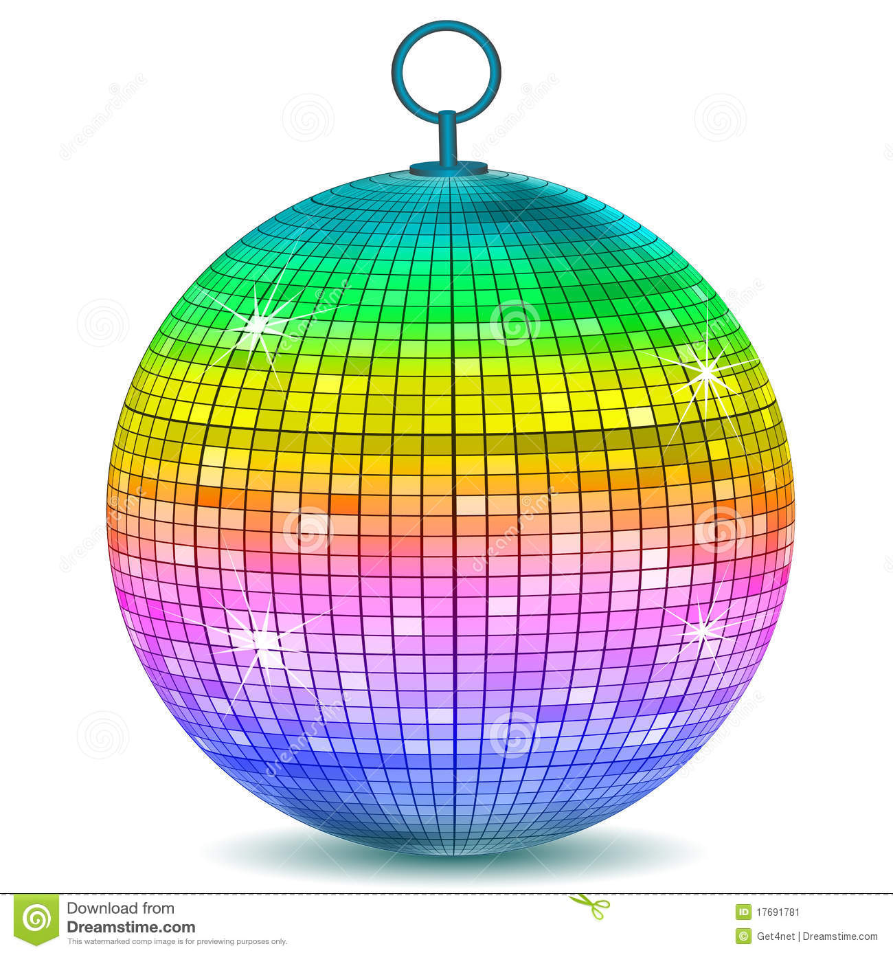 Colorful Disco Ball Stock Illustration Image Of Ball