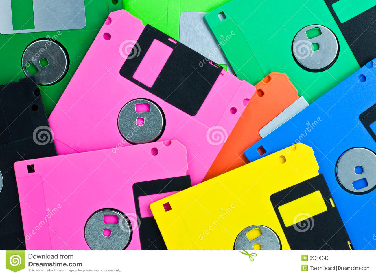Colorful Diskettes