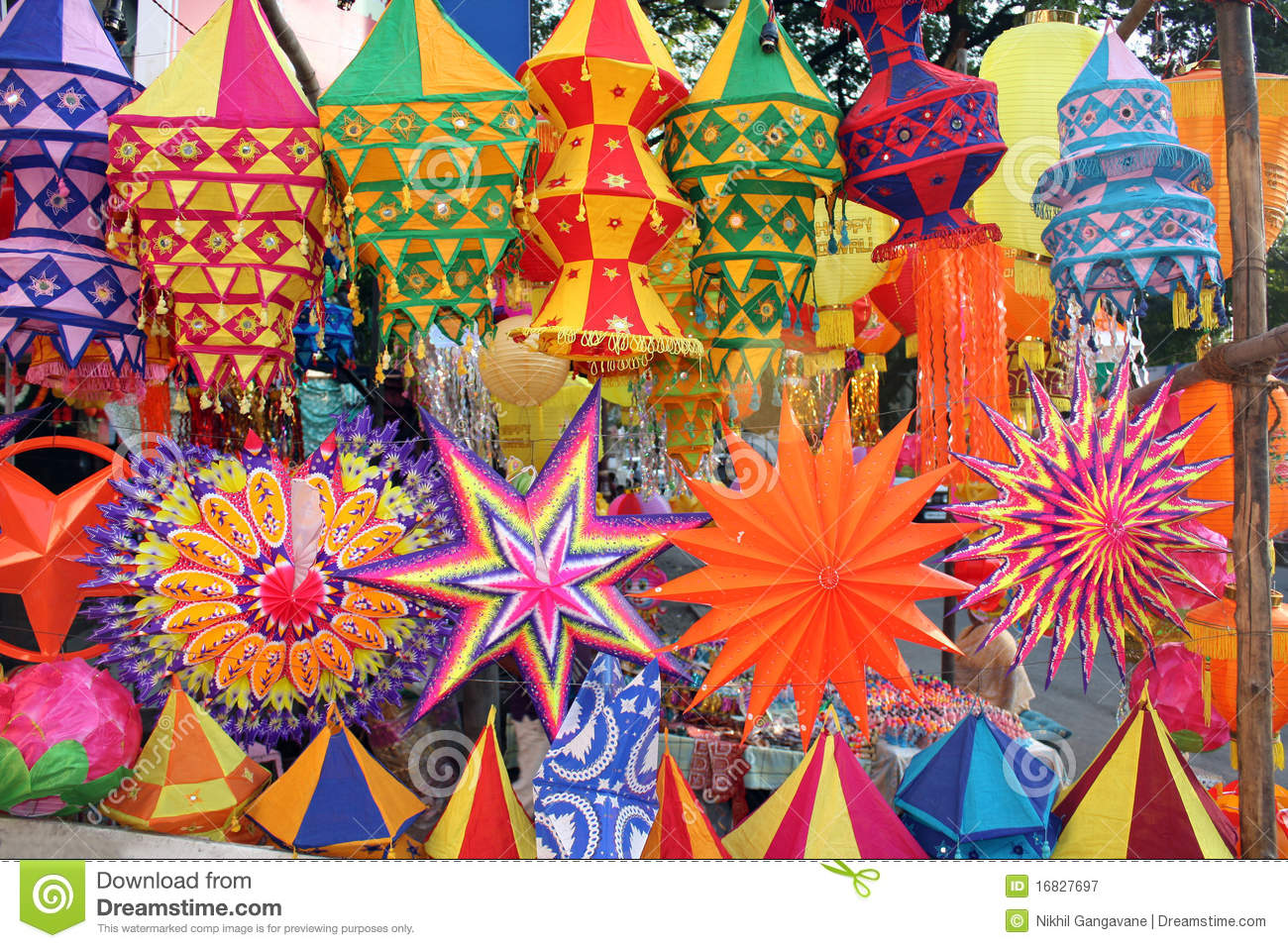 Colorful Diwali Lanterns Royalty Free Stock Photography