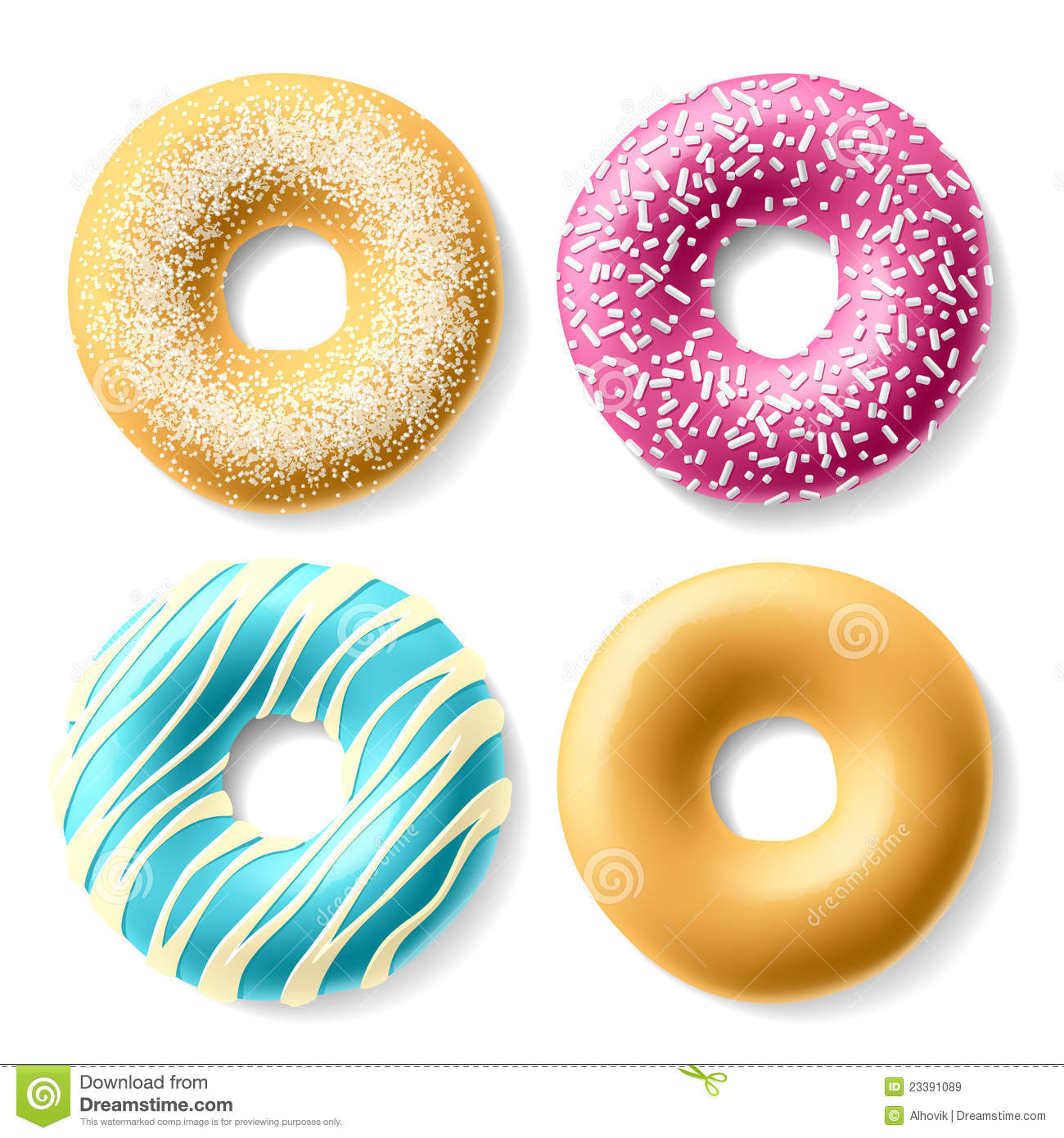Colorful Donuts Royalty Free Stock Images - Image: 23391089
