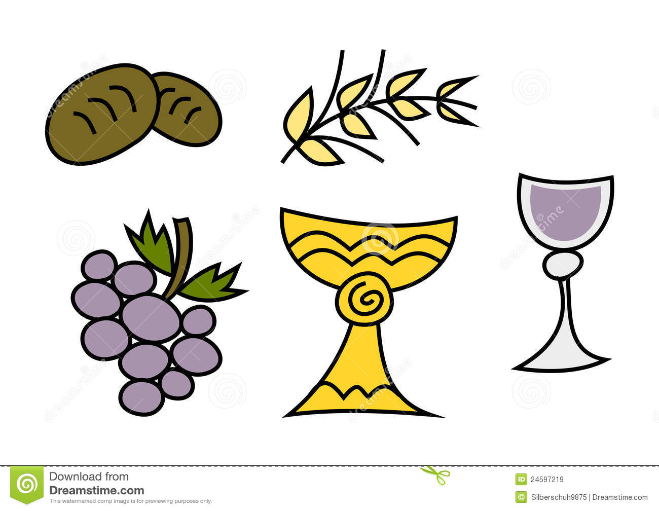 Clipart Set Holy Communion Stock Vector Illustration Of Holy