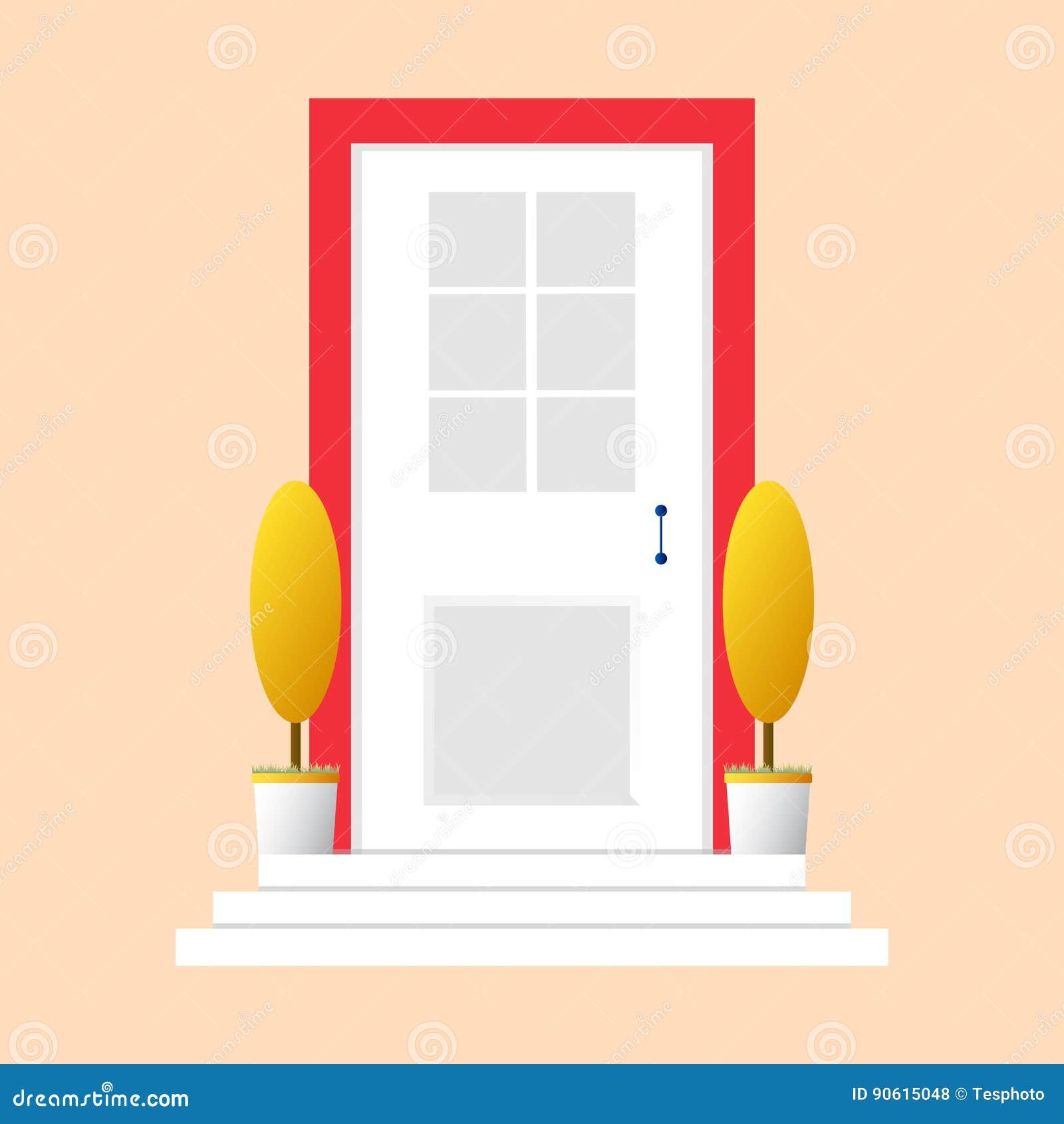 Colorful Door Concept. Door Flat Icon. Design Your Own Apartment ...