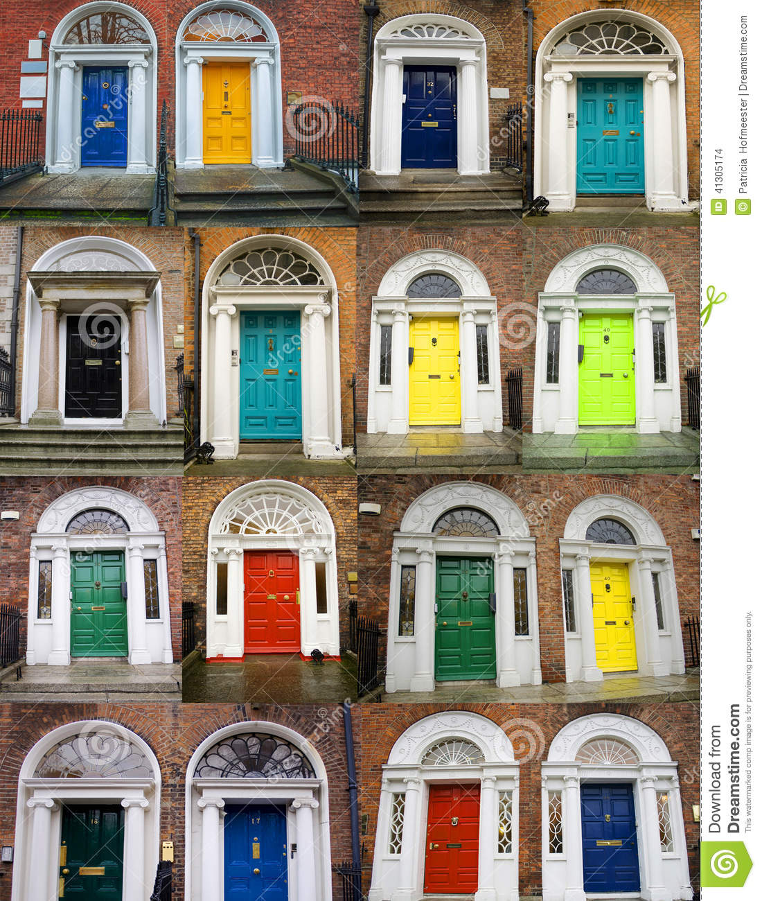 Colorful Doors Collage Stock Photo Image 41305174