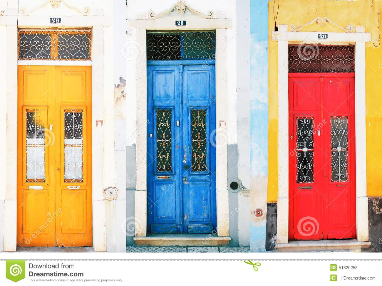 Colorful doors  sc 1 st  Dreamstime.com & Colorful doors stock photo. Image of rojo arquitectura - 51620258